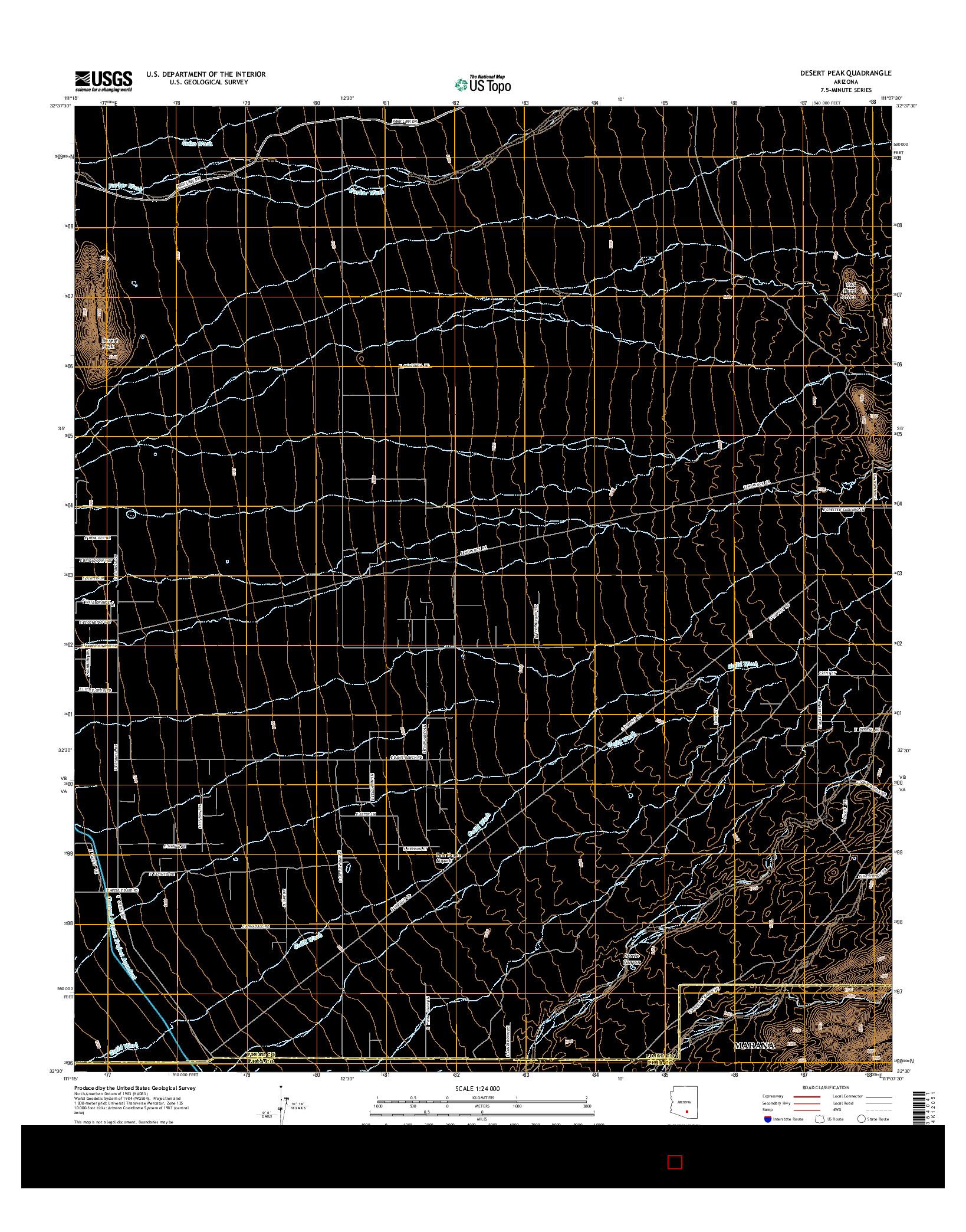 USGS US TOPO 7.5-MINUTE MAP FOR DESERT PEAK, AZ 2014