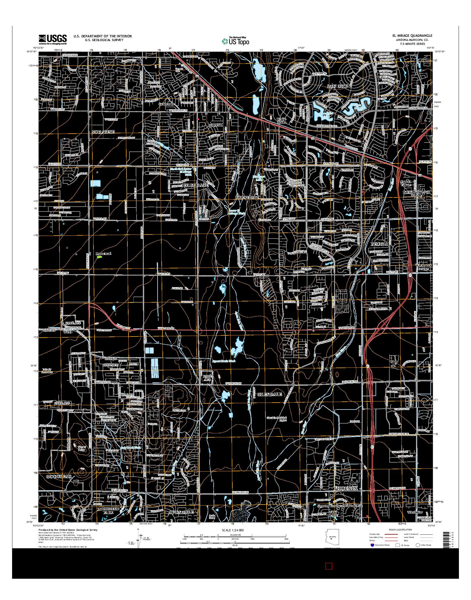 USGS US TOPO 7.5-MINUTE MAP FOR EL MIRAGE, AZ 2014