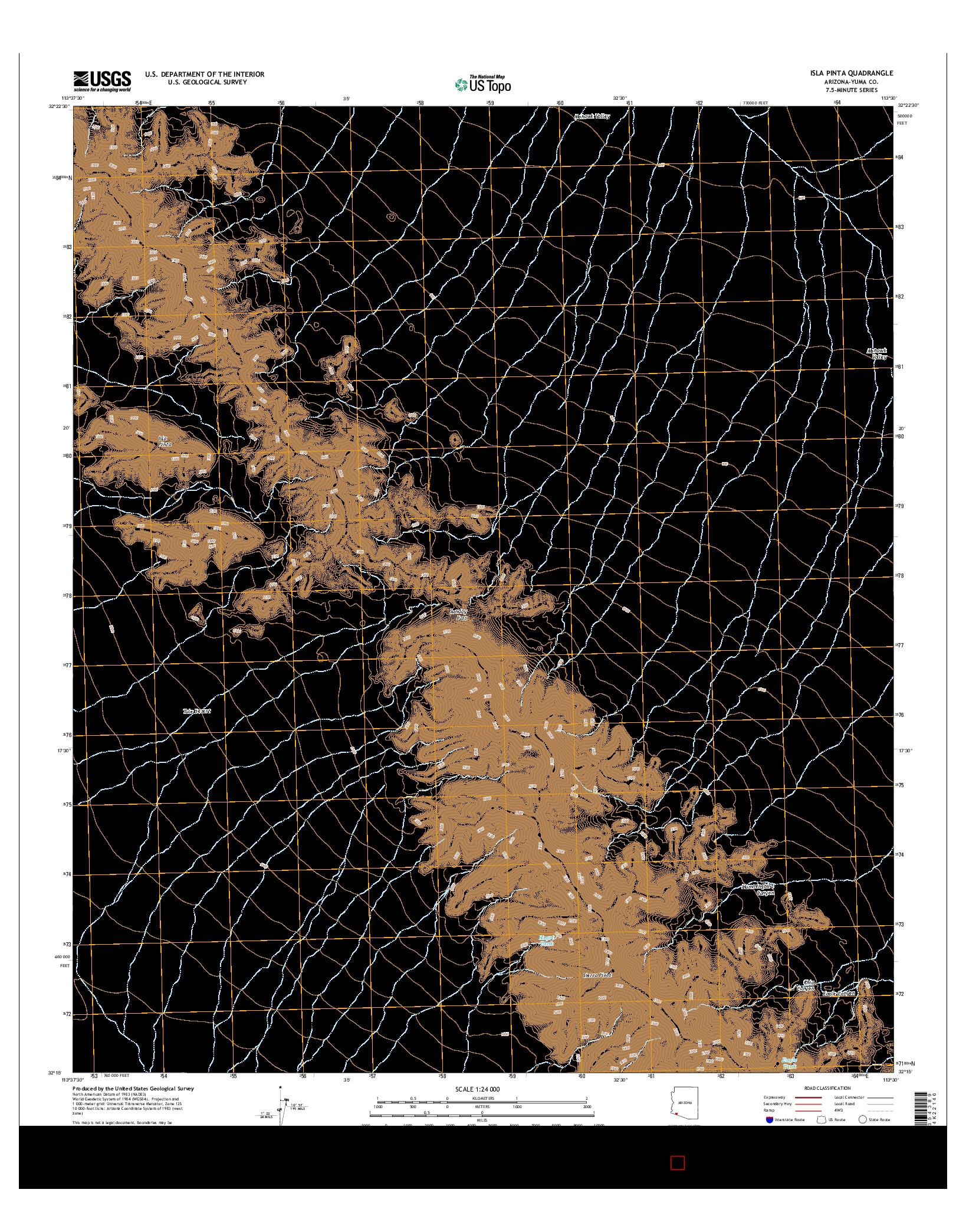 USGS US TOPO 7.5-MINUTE MAP FOR ISLA PINTA, AZ 2014