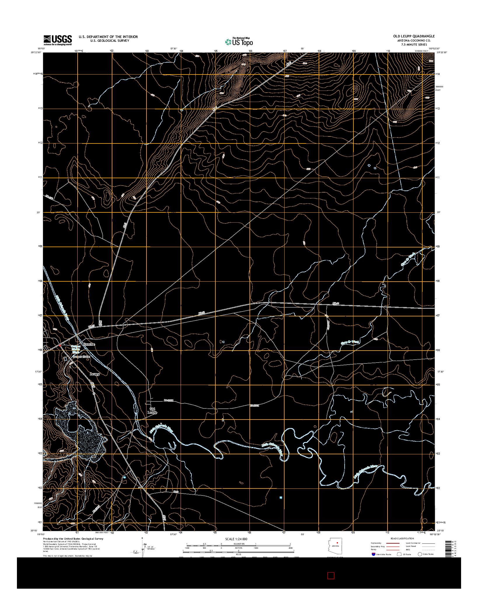 USGS US TOPO 7.5-MINUTE MAP FOR OLD LEUPP, AZ 2014