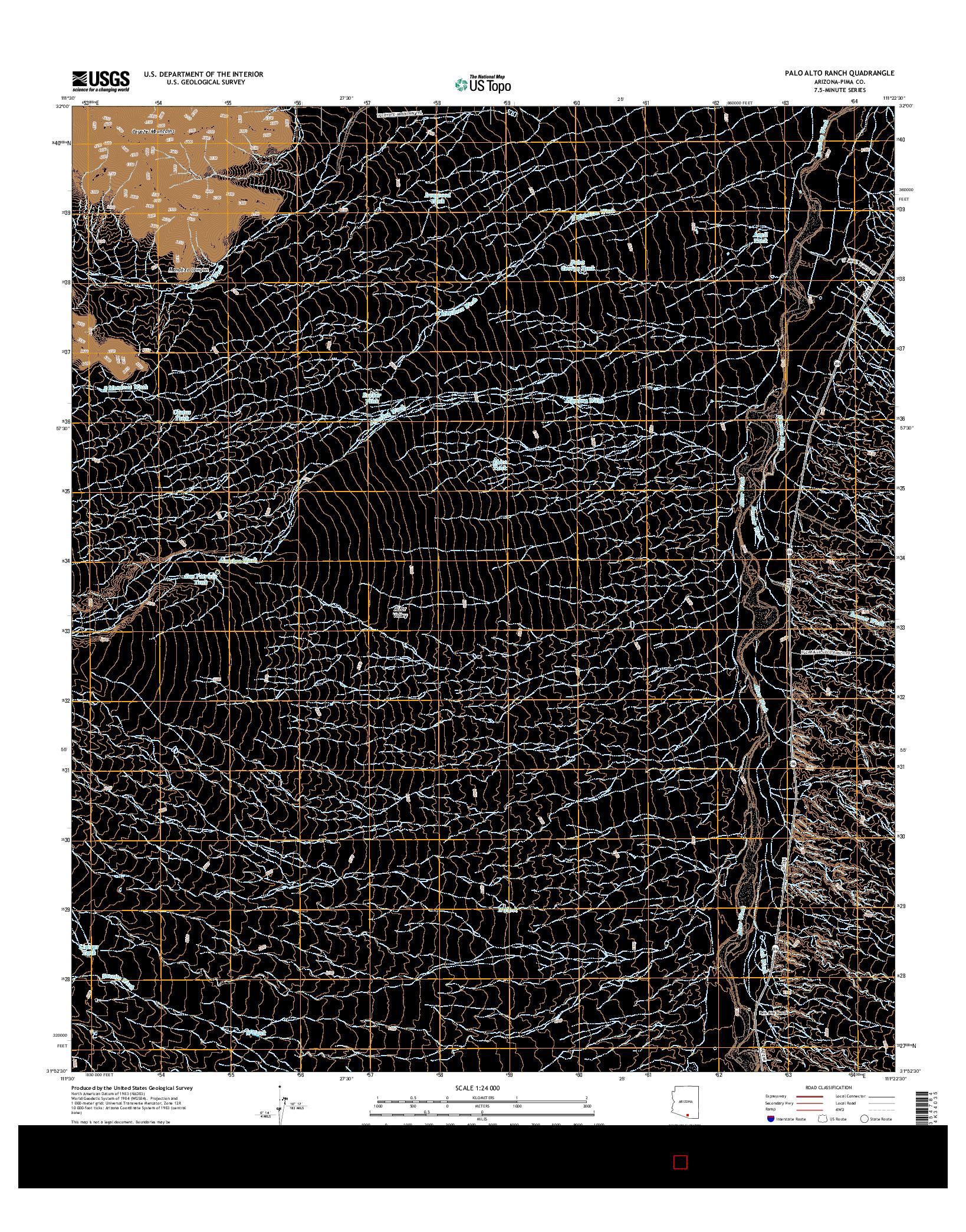 USGS US TOPO 7.5-MINUTE MAP FOR PALO ALTO RANCH, AZ 2014