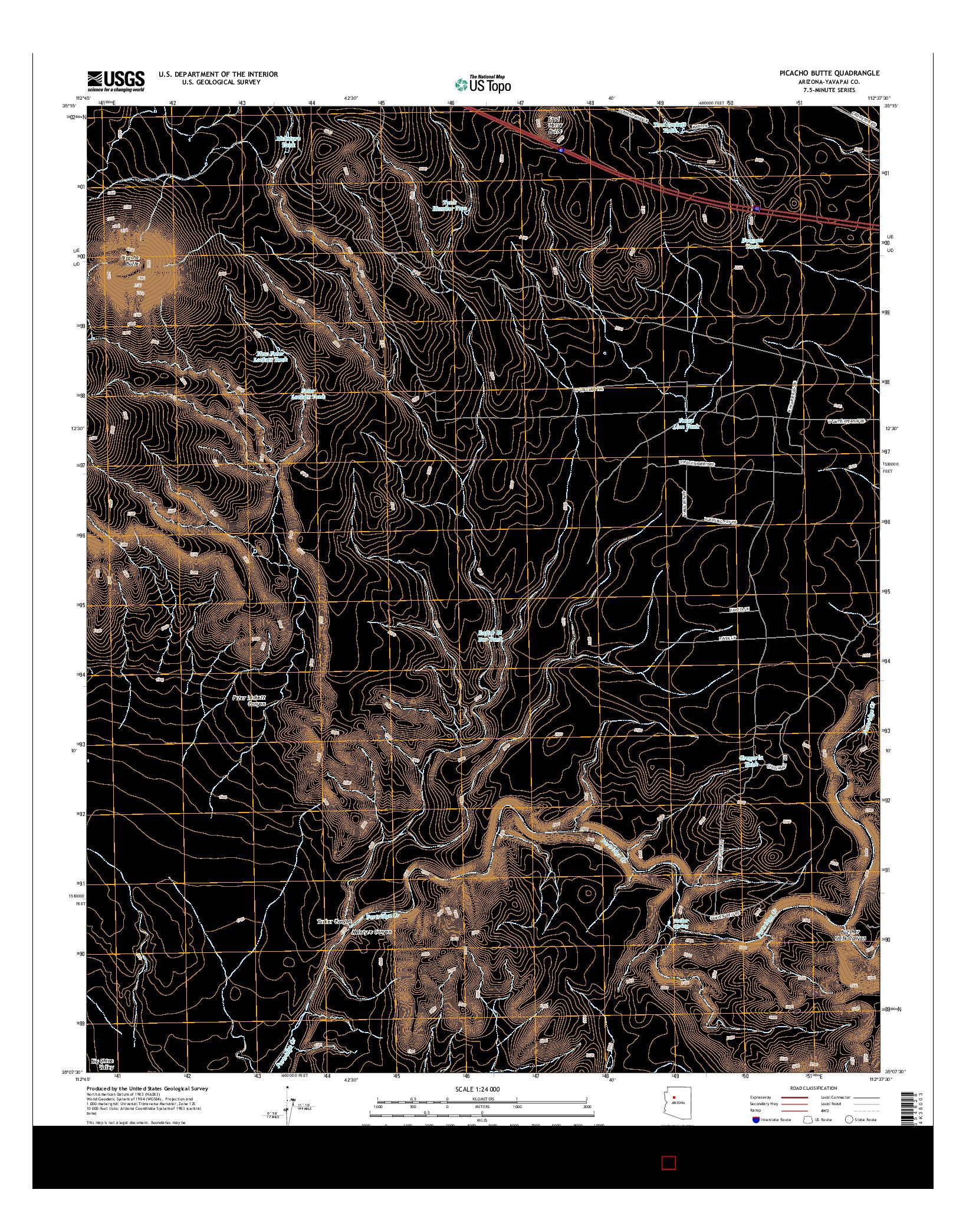 USGS US TOPO 7.5-MINUTE MAP FOR PICACHO BUTTE, AZ 2014