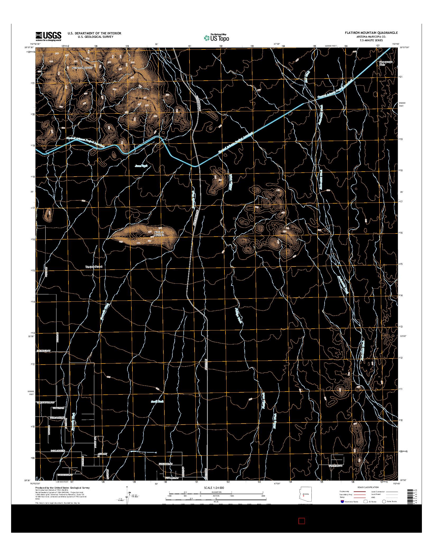 USGS US TOPO 7.5-MINUTE MAP FOR FLATIRON MOUNTAIN, AZ 2014