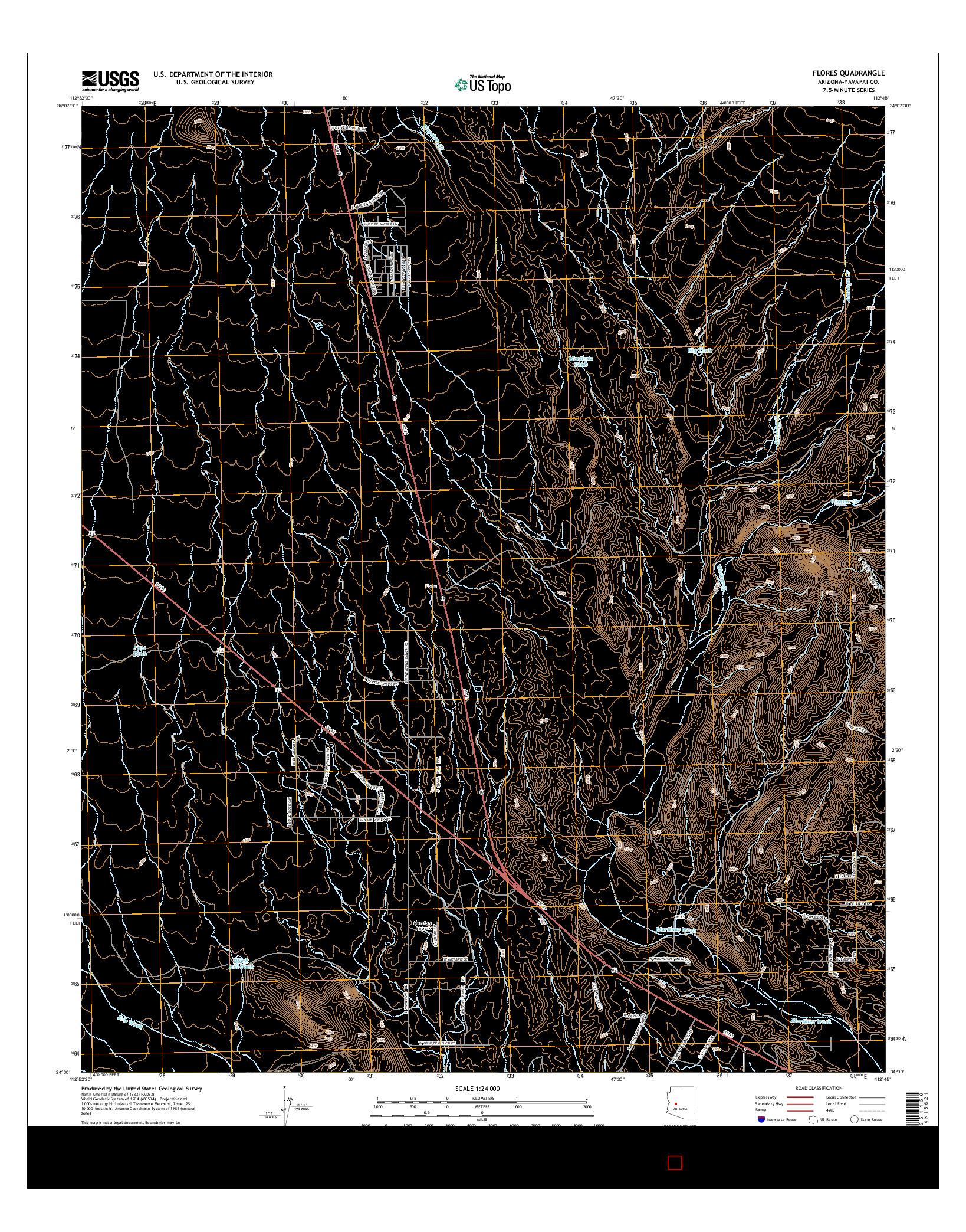 USGS US TOPO 7.5-MINUTE MAP FOR FLORES, AZ 2014