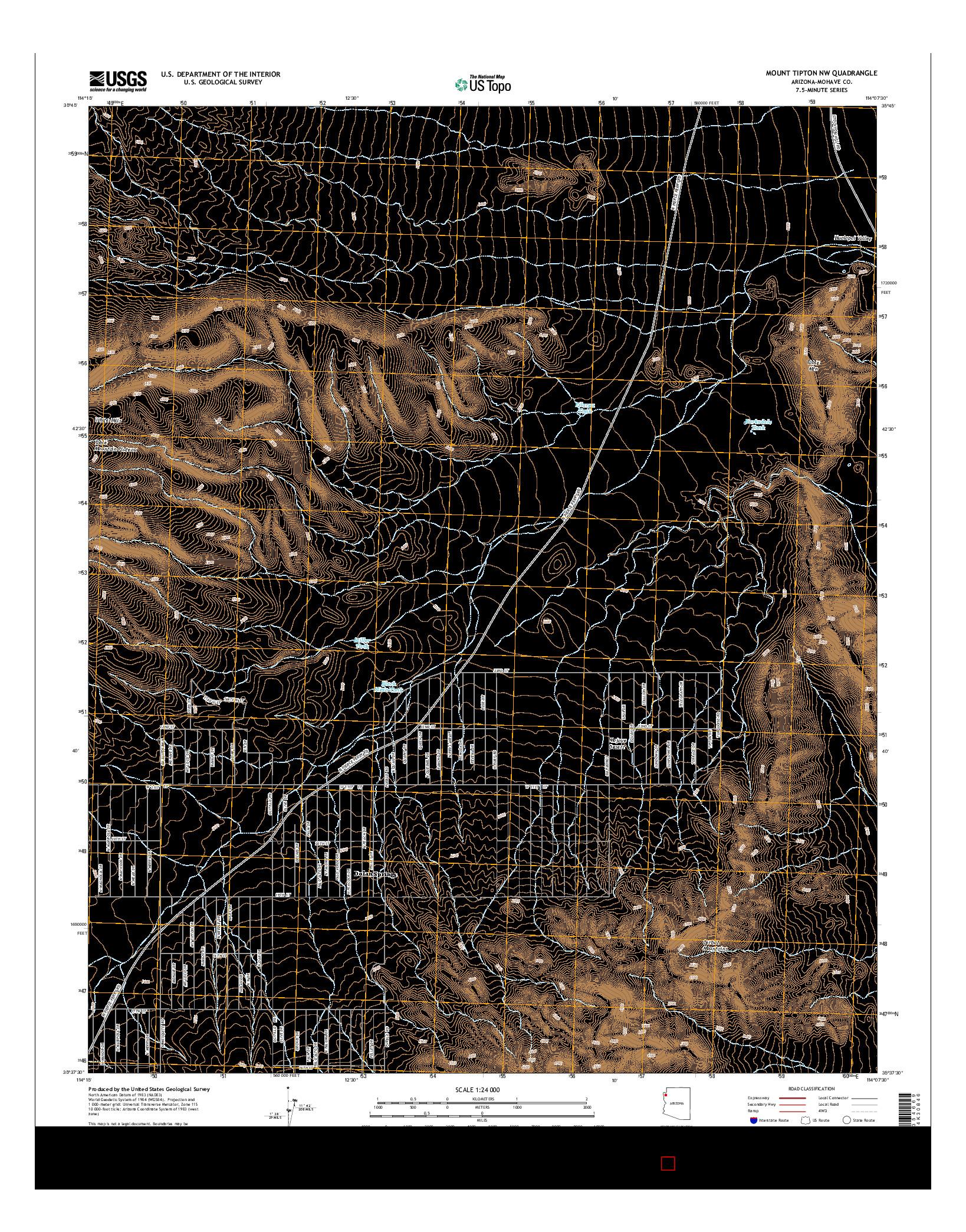 USGS US TOPO 7.5-MINUTE MAP FOR MOUNT TIPTON NW, AZ 2014