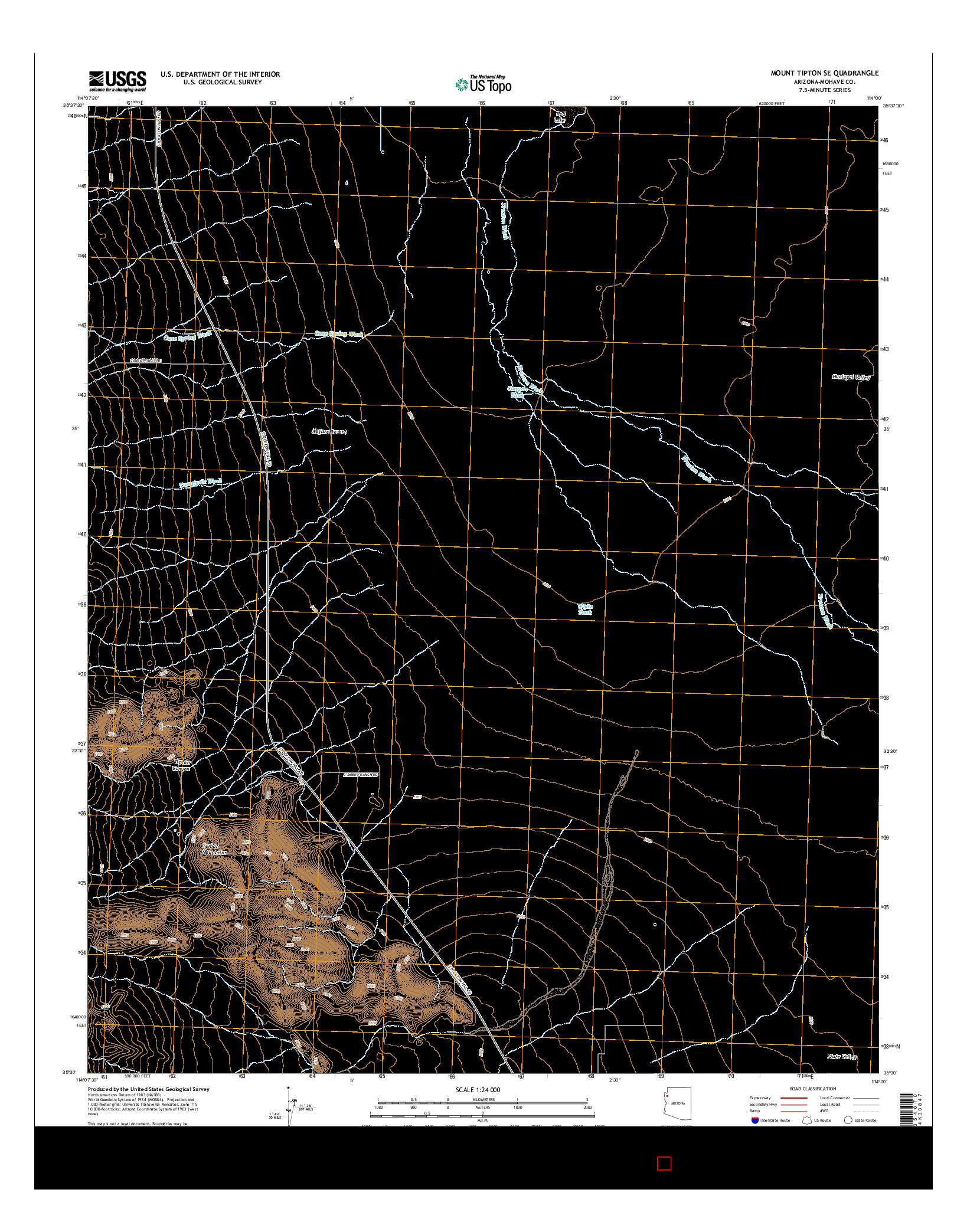USGS US TOPO 7.5-MINUTE MAP FOR MOUNT TIPTON SE, AZ 2014