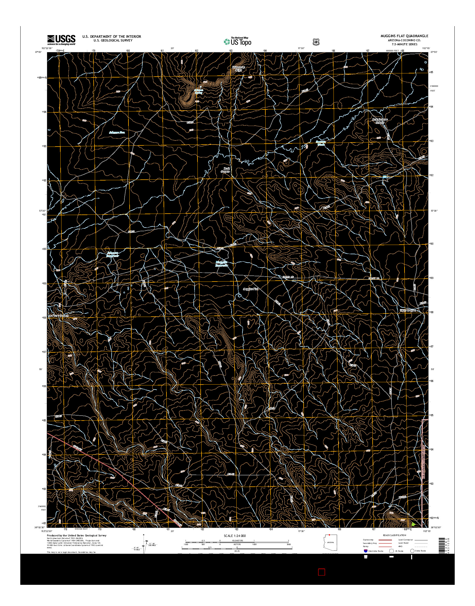 USGS US TOPO 7.5-MINUTE MAP FOR MUGGINS FLAT, AZ 2014