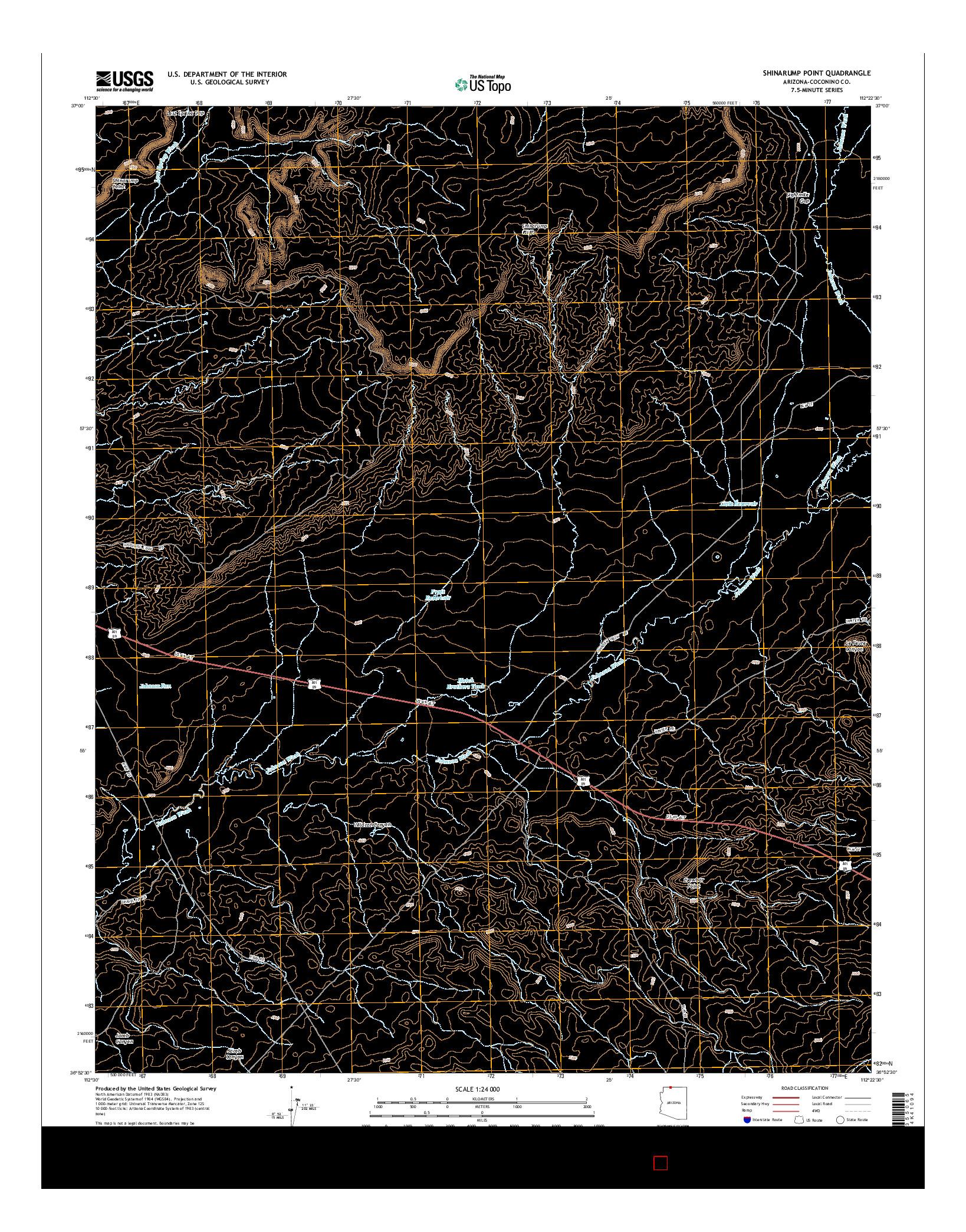 USGS US TOPO 7.5-MINUTE MAP FOR SHINARUMP POINT, AZ 2014