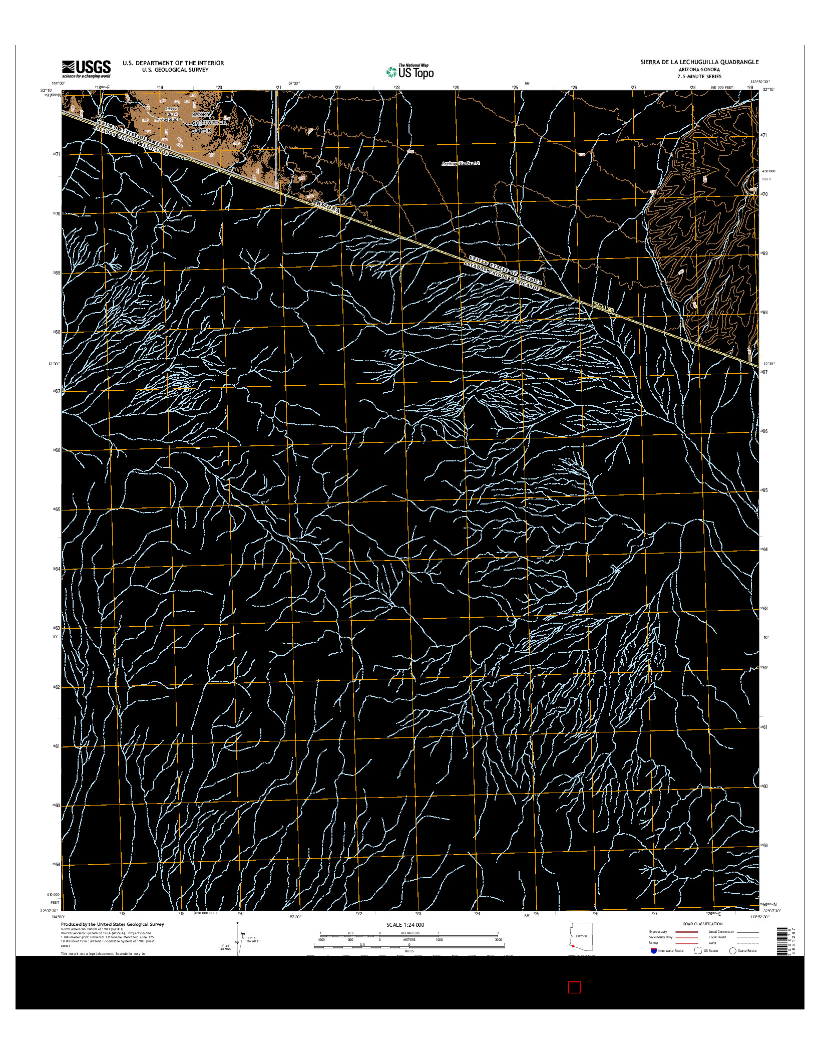 USGS US TOPO 7.5-MINUTE MAP FOR SIERRA DE LA LECHUGUILLA, AZ-SON 2014
