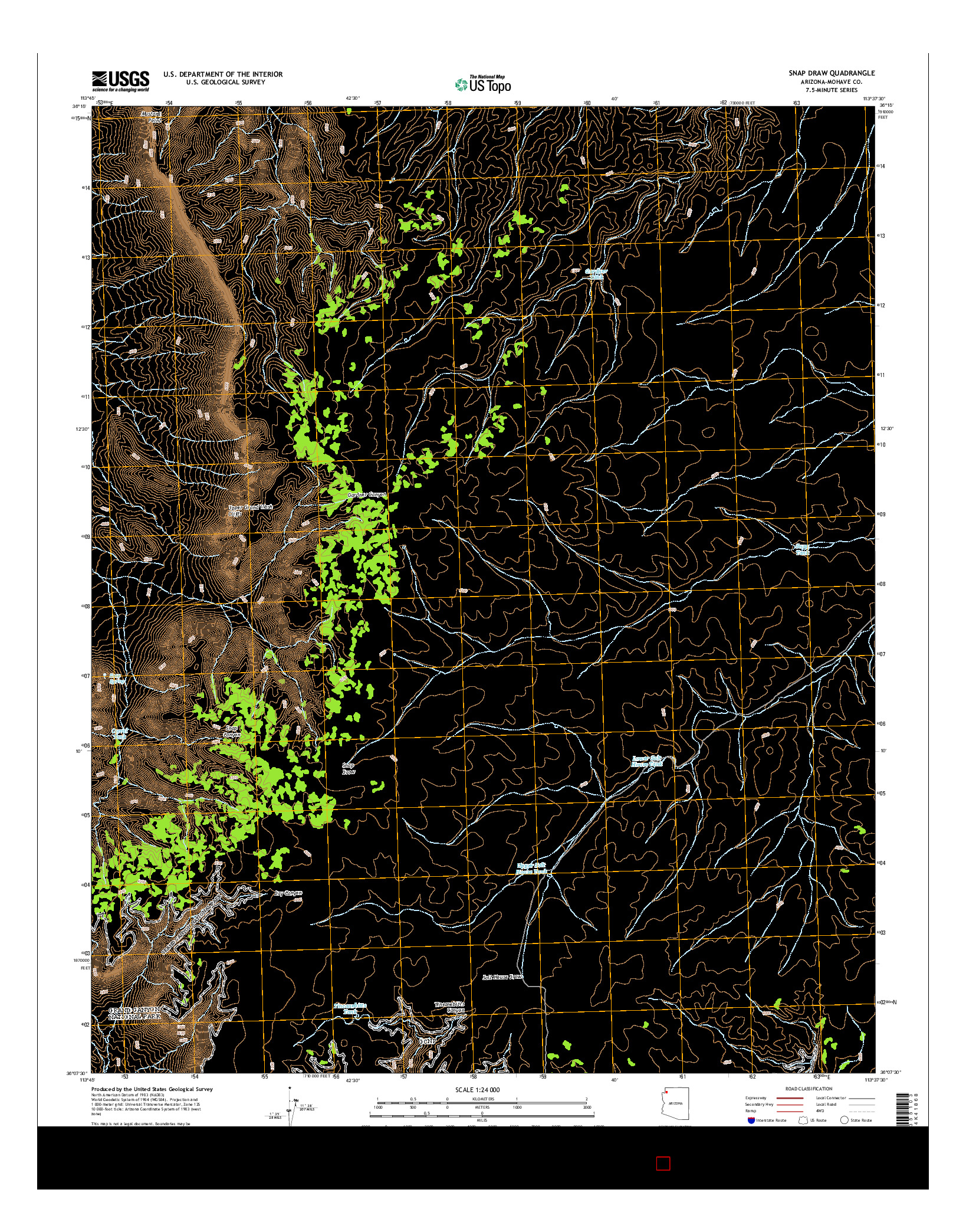 USGS US TOPO 7.5-MINUTE MAP FOR SNAP DRAW, AZ 2014