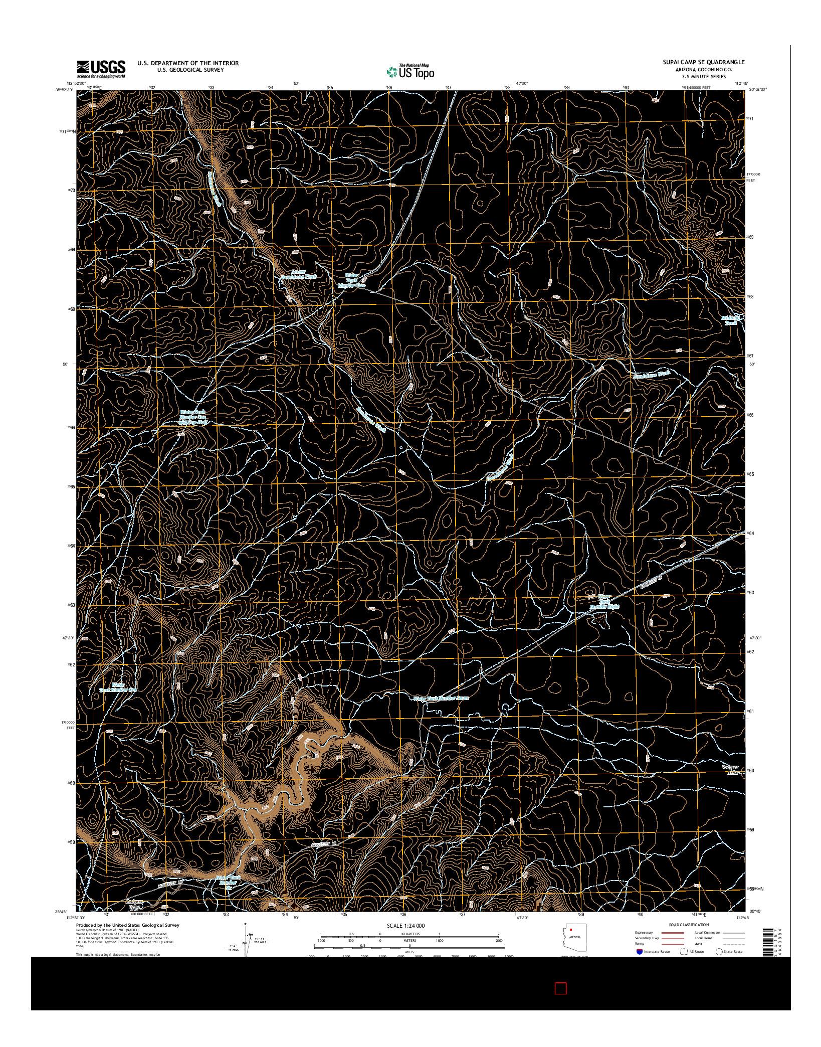 USGS US TOPO 7.5-MINUTE MAP FOR SUPAI CAMP SE, AZ 2014