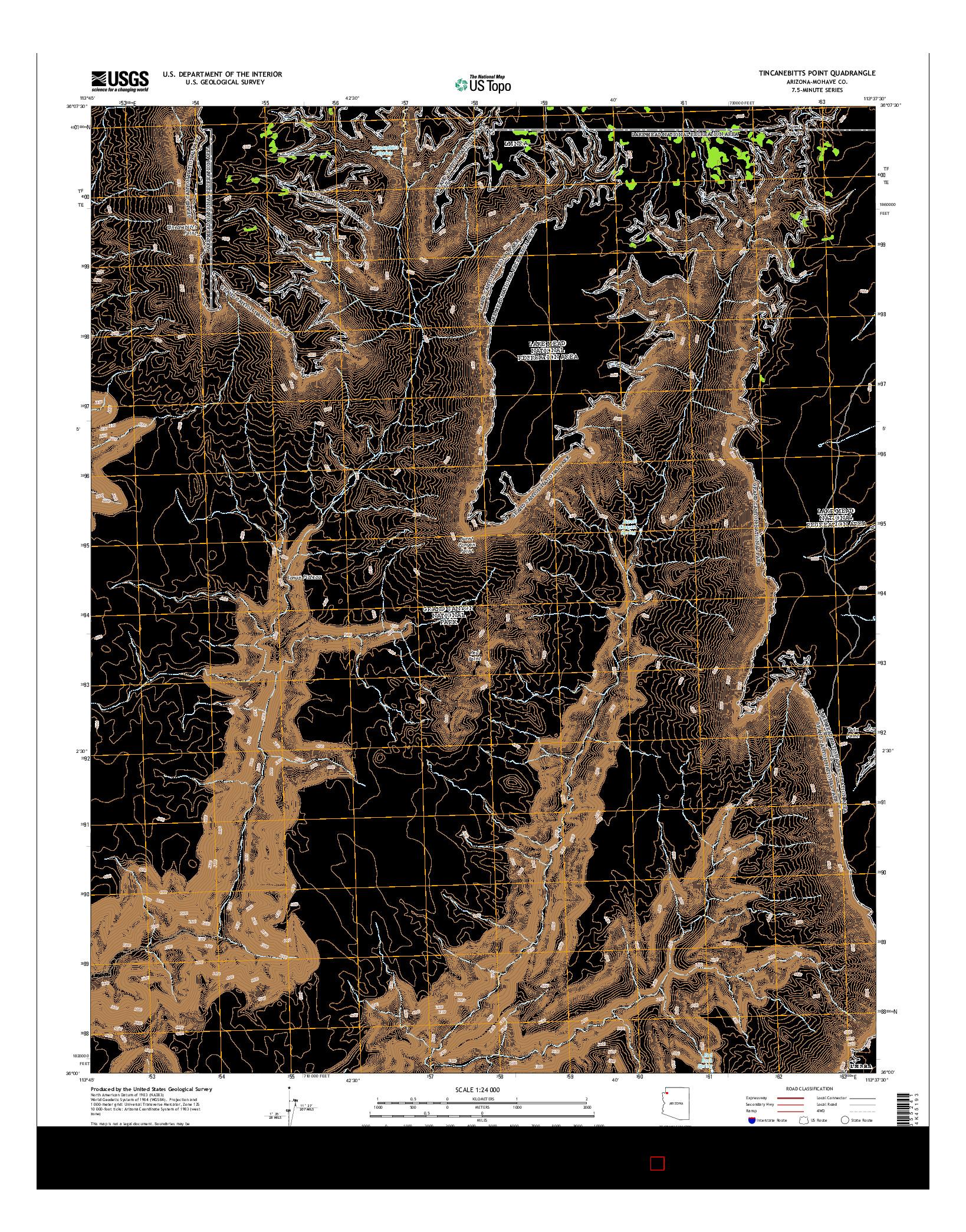 USGS US TOPO 7.5-MINUTE MAP FOR TINCANEBITTS POINT, AZ 2014