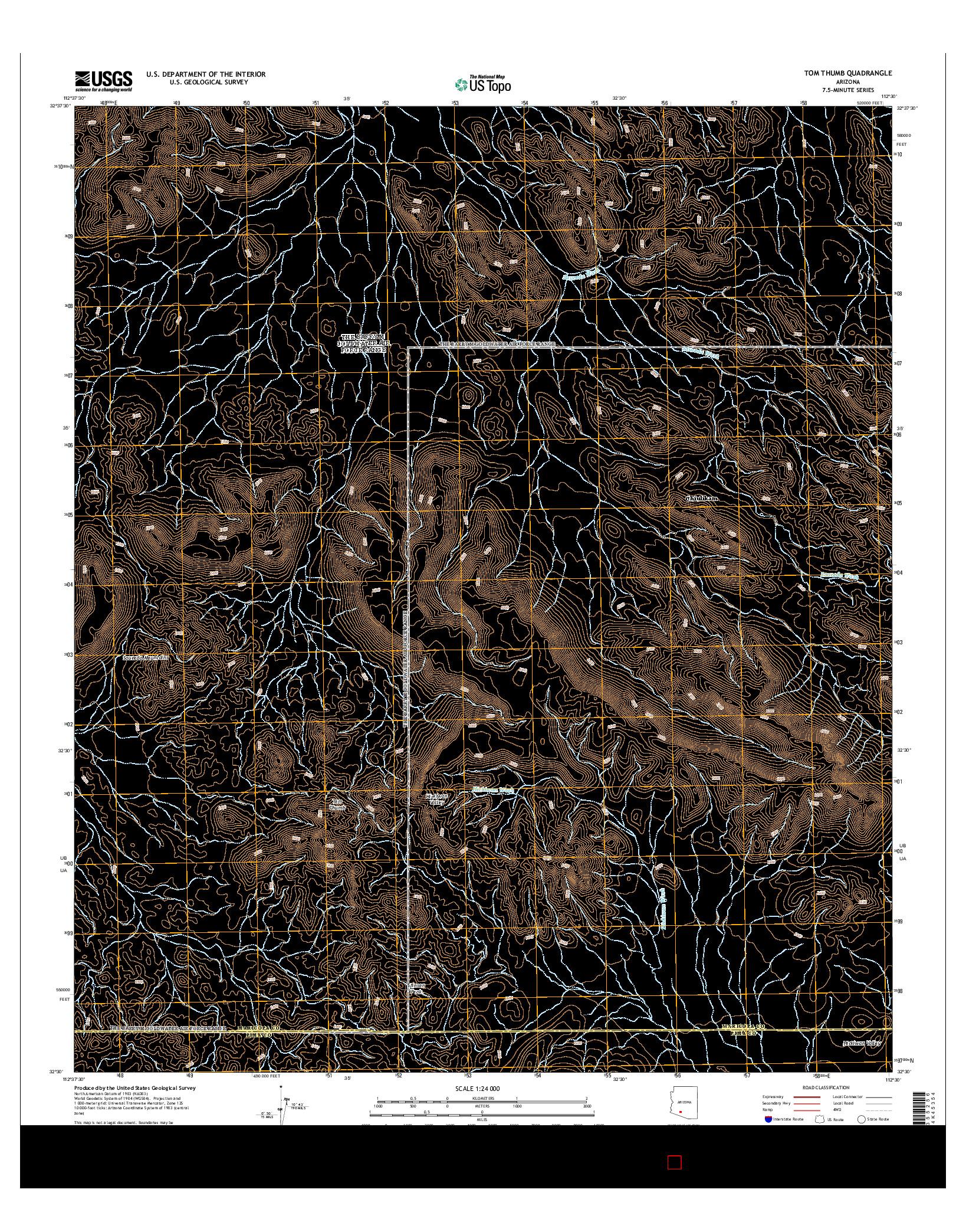 USGS US TOPO 7.5-MINUTE MAP FOR TOM THUMB, AZ 2014