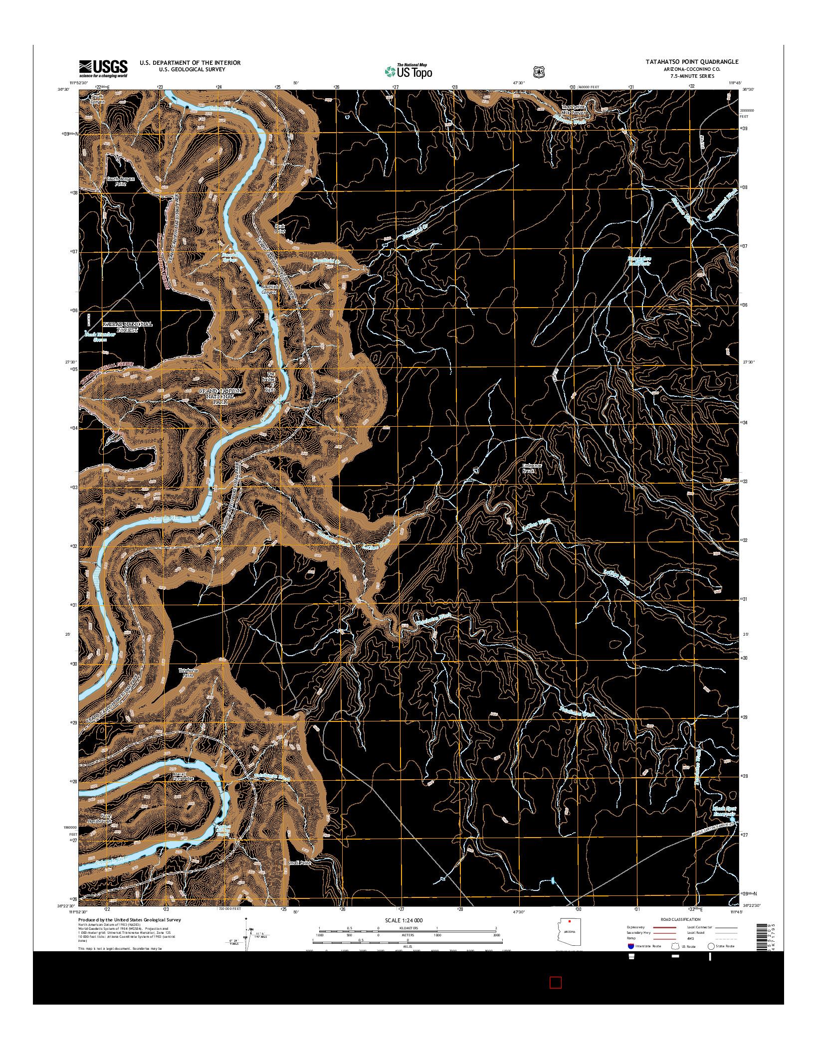USGS US TOPO 7.5-MINUTE MAP FOR TATAHATSO POINT, AZ 2014