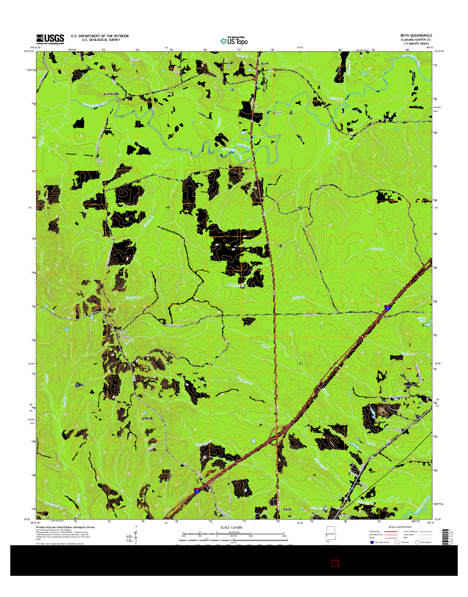 USGS US TOPO 7.5-MINUTE MAP FOR BOYD, AL 2014