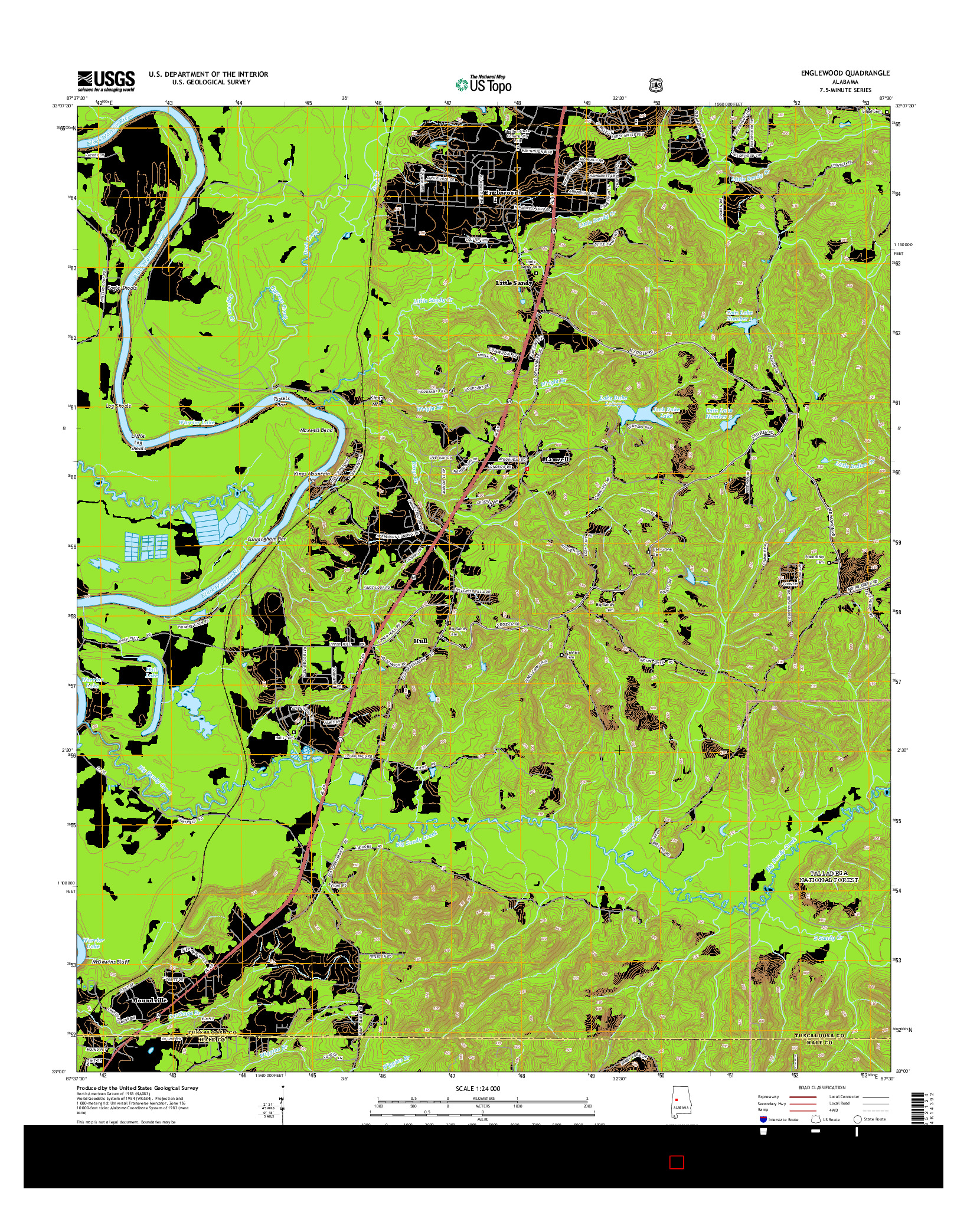 USGS US TOPO 7.5-MINUTE MAP FOR ENGLEWOOD, AL 2014
