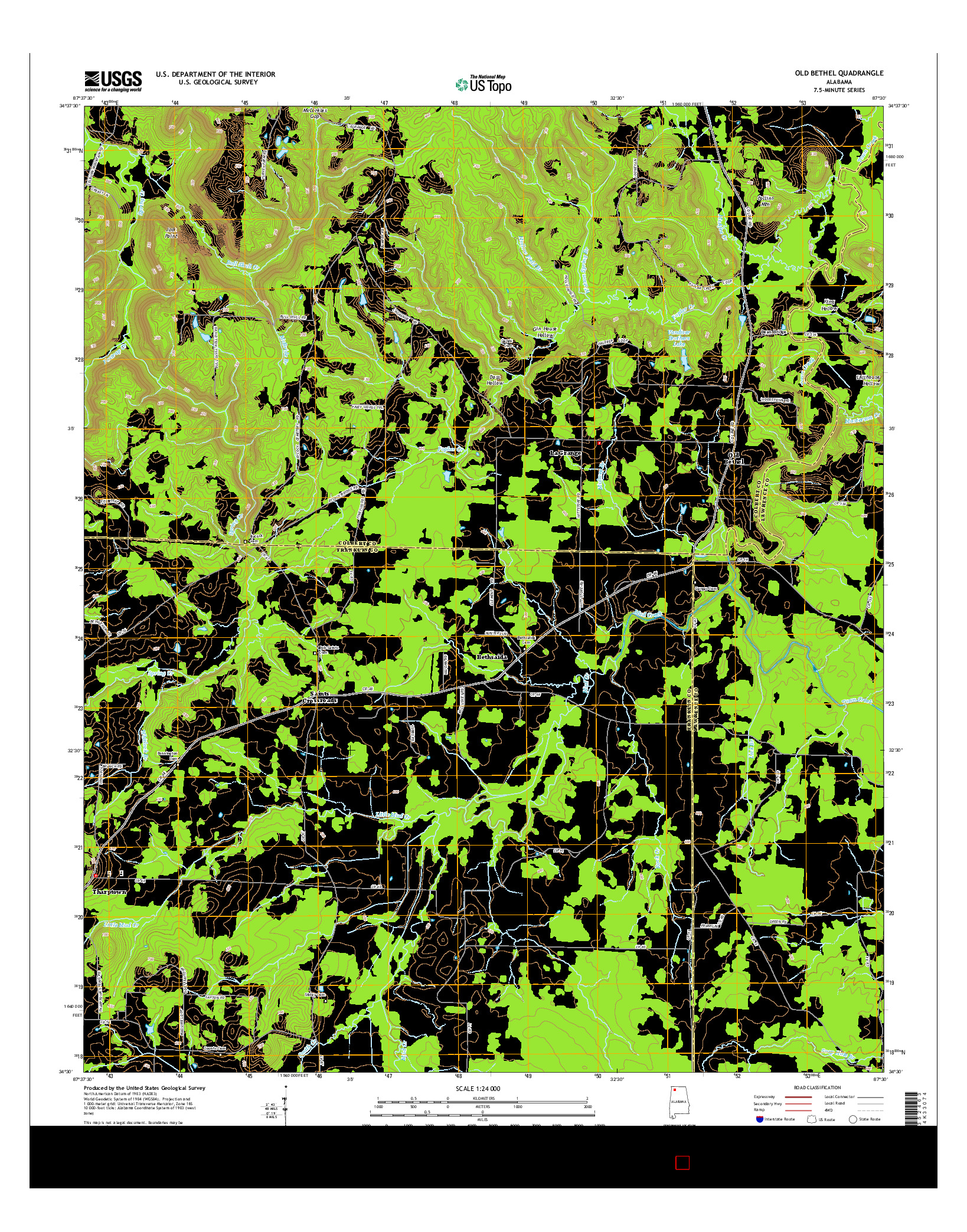 USGS US TOPO 7.5-MINUTE MAP FOR OLD BETHEL, AL 2014