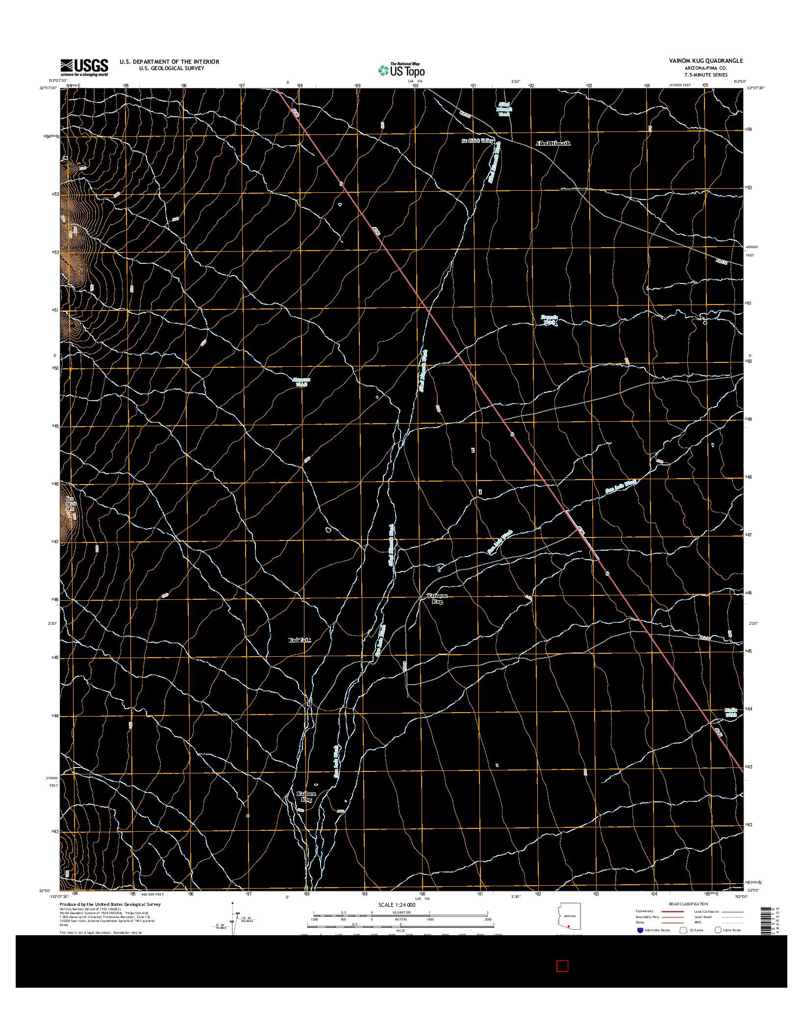 USGS US TOPO 7.5-MINUTE MAP FOR VAINOM KUG, AZ 2014