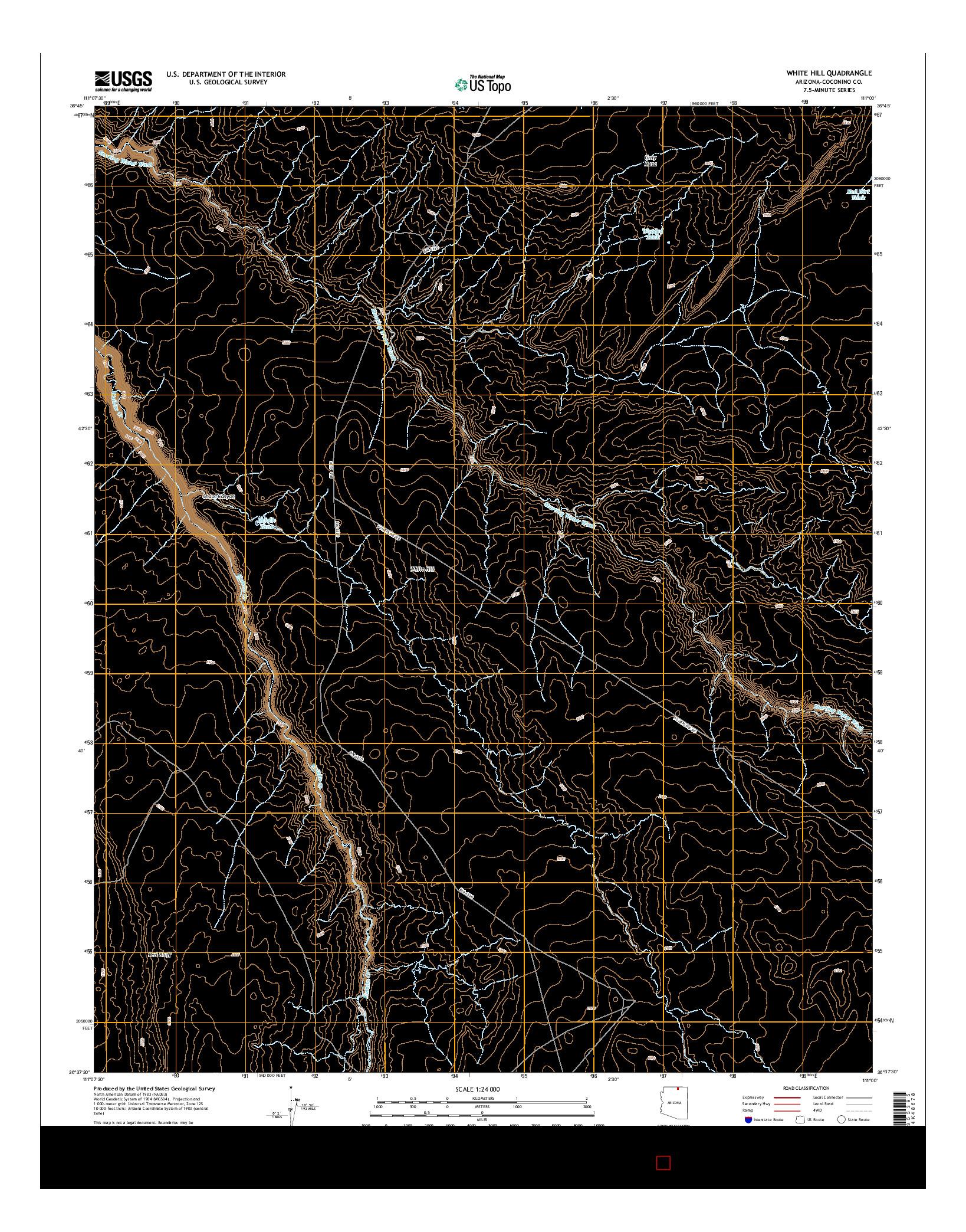 USGS US TOPO 7.5-MINUTE MAP FOR WHITE HILL, AZ 2014