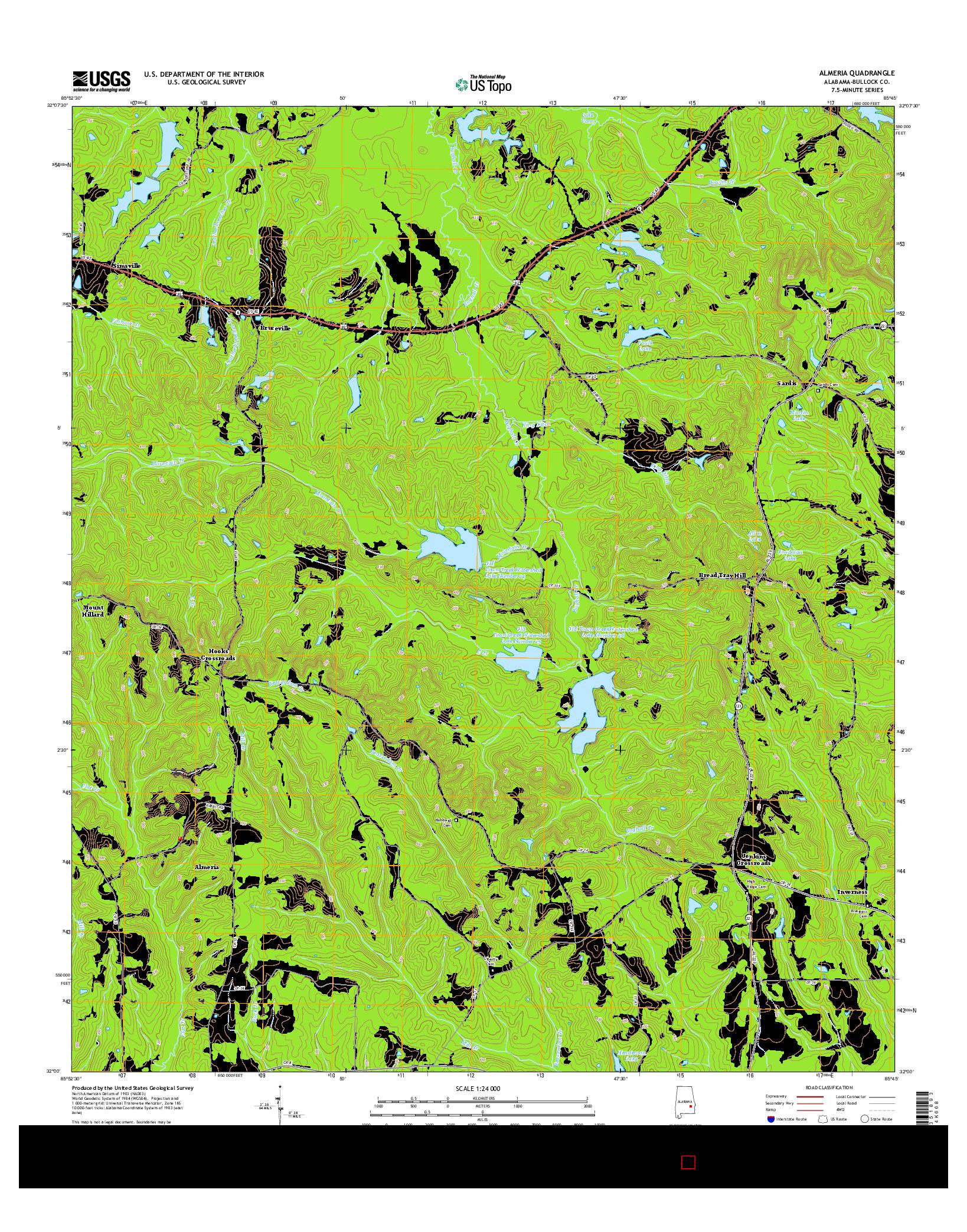 USGS US TOPO 7.5-MINUTE MAP FOR ALMERIA, AL 2014