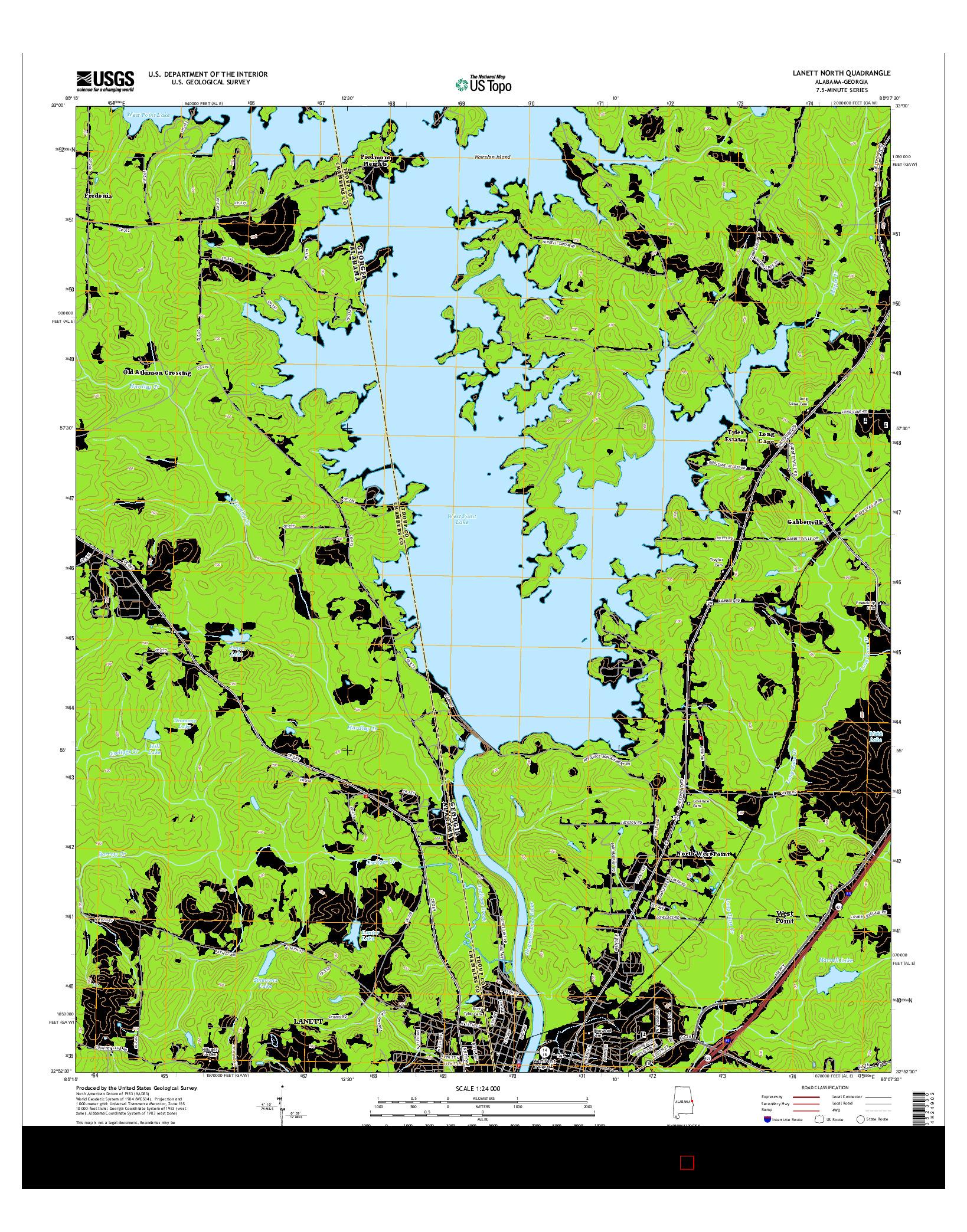 USGS US TOPO 7.5-MINUTE MAP FOR LANETT NORTH, AL-GA 2014