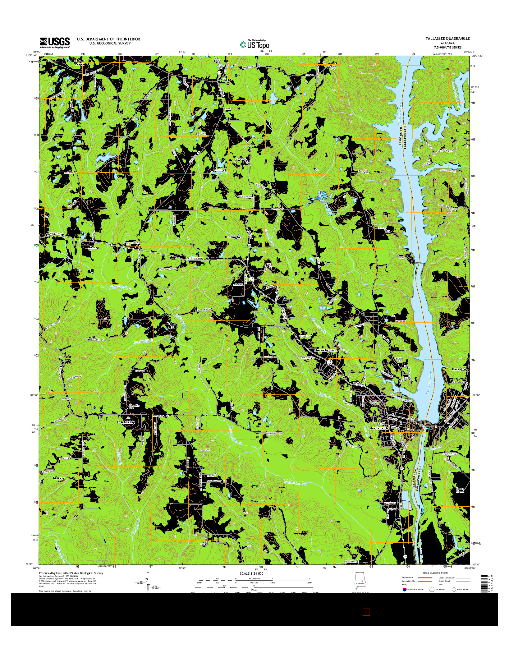 USGS US TOPO 7.5-MINUTE MAP FOR TALLASSEE, AL 2014