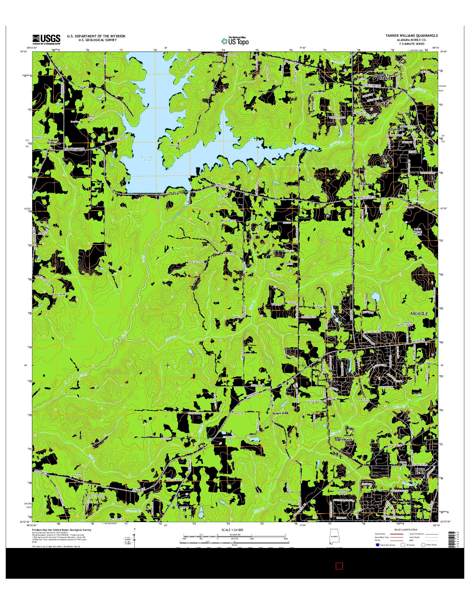 USGS US TOPO 7.5-MINUTE MAP FOR TANNER WILLIAMS, AL 2014