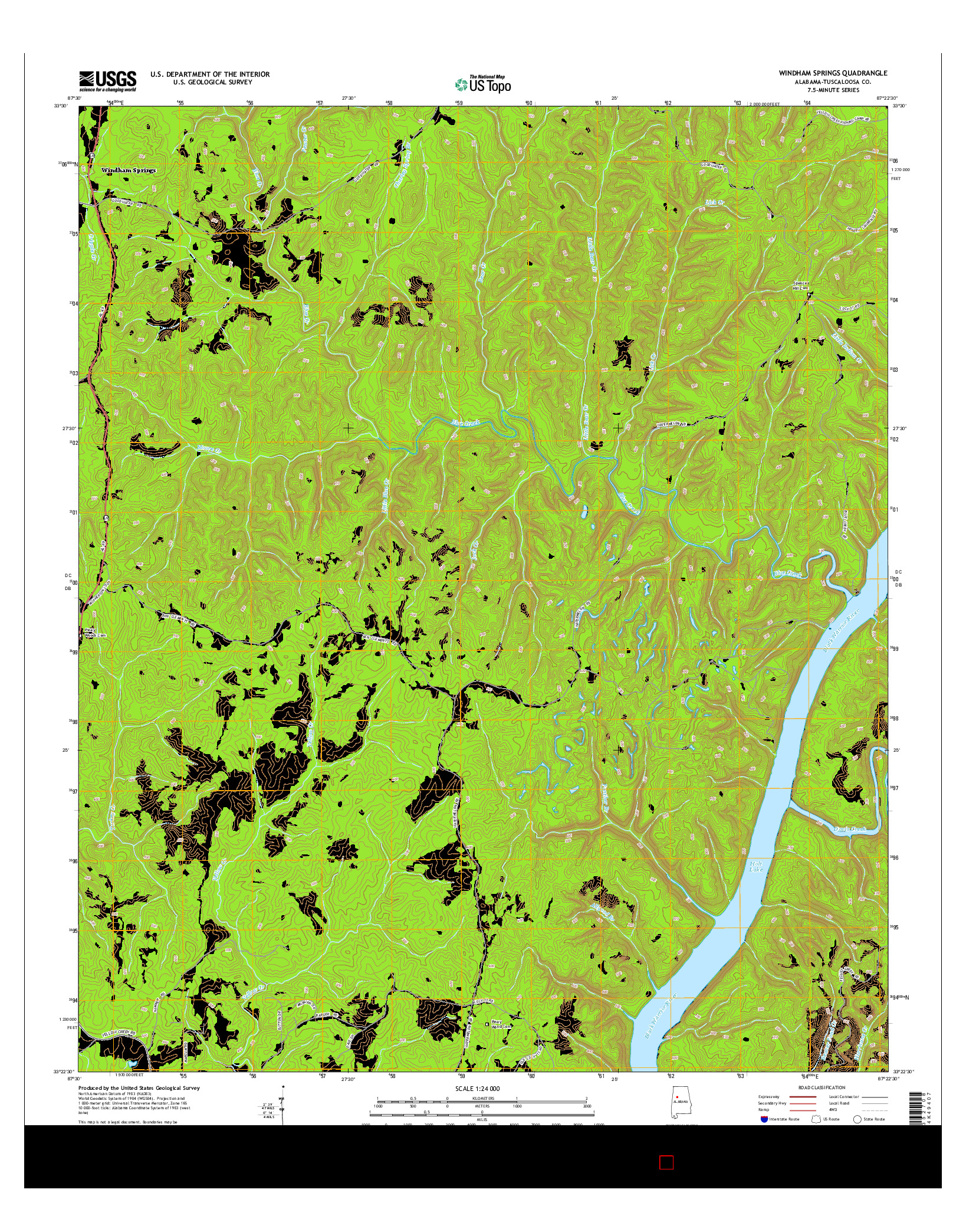 USGS US TOPO 7.5-MINUTE MAP FOR WINDHAM SPRINGS, AL 2014