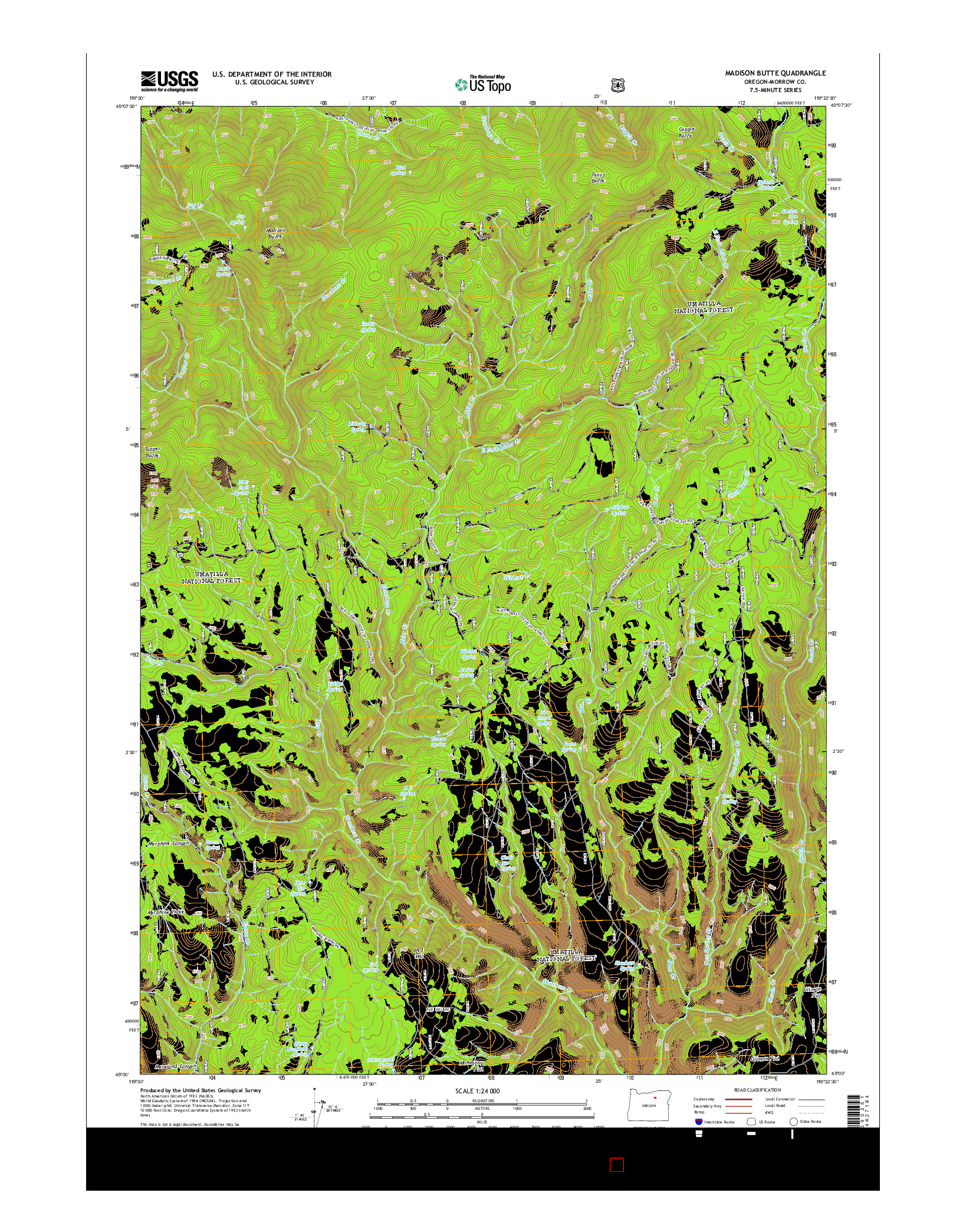 USGS US TOPO 7.5-MINUTE MAP FOR MADISON BUTTE, OR 2014
