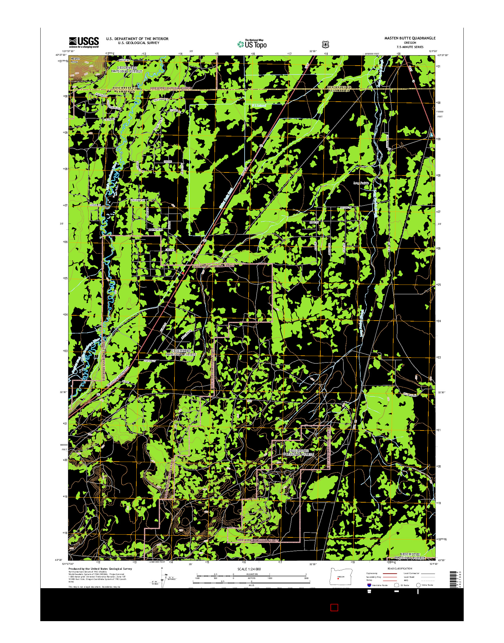 USGS US TOPO 7.5-MINUTE MAP FOR MASTEN BUTTE, OR 2014