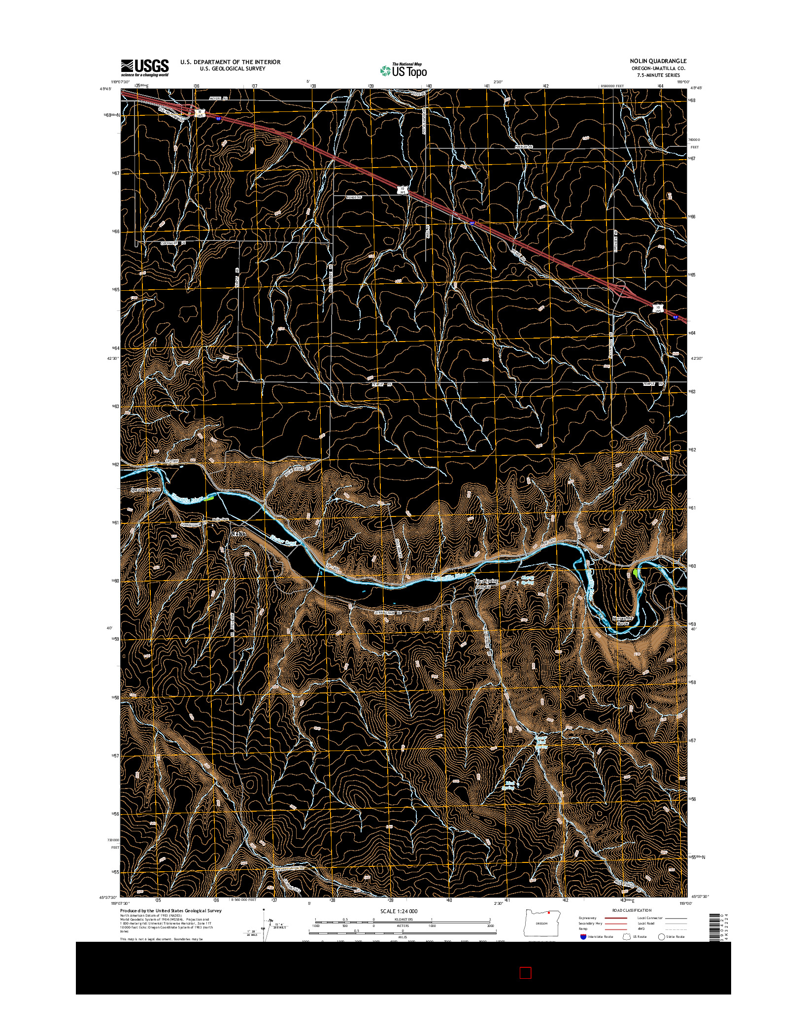 USGS US TOPO 7.5-MINUTE MAP FOR NOLIN, OR 2014
