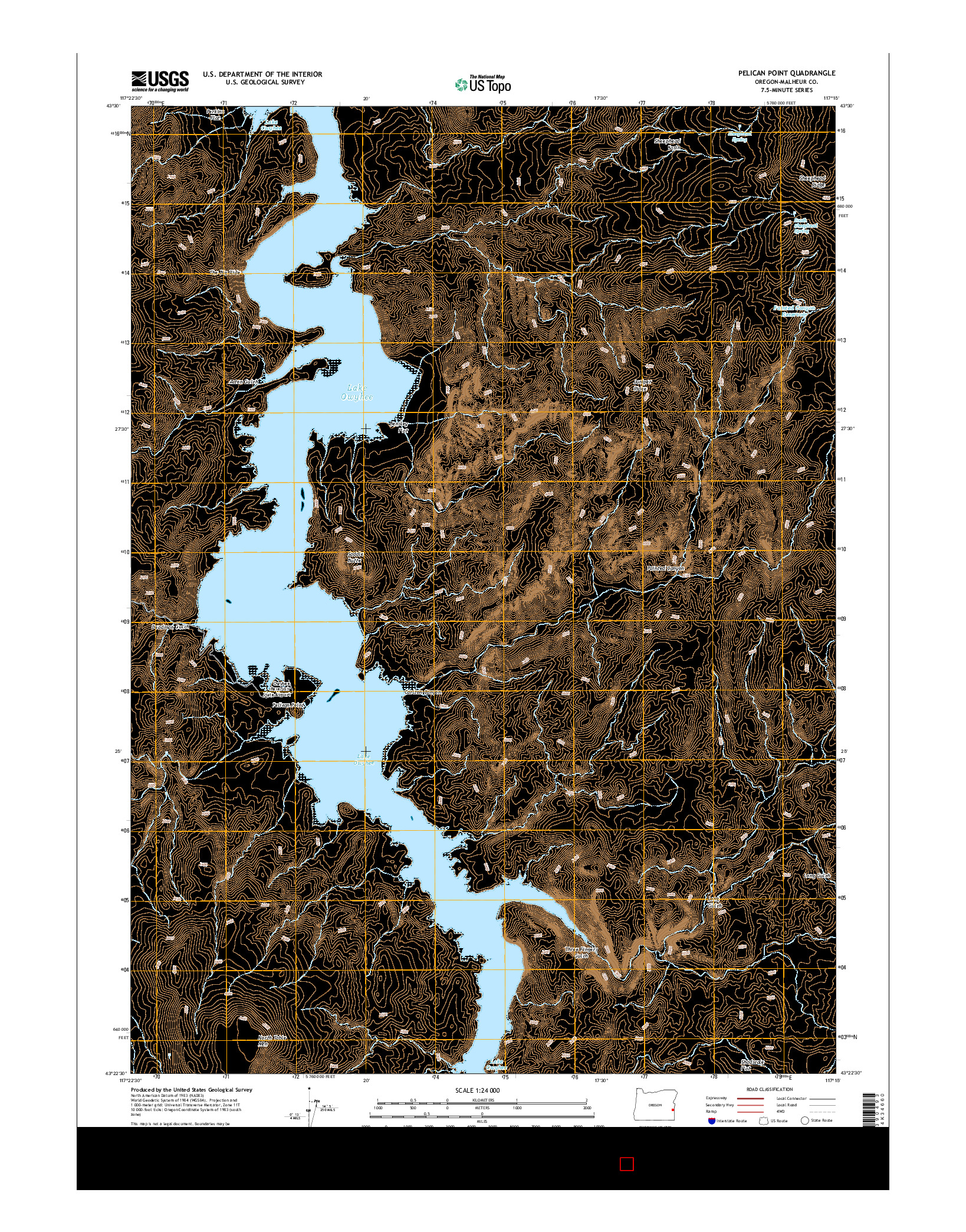 USGS US TOPO 7.5-MINUTE MAP FOR PELICAN POINT, OR 2014