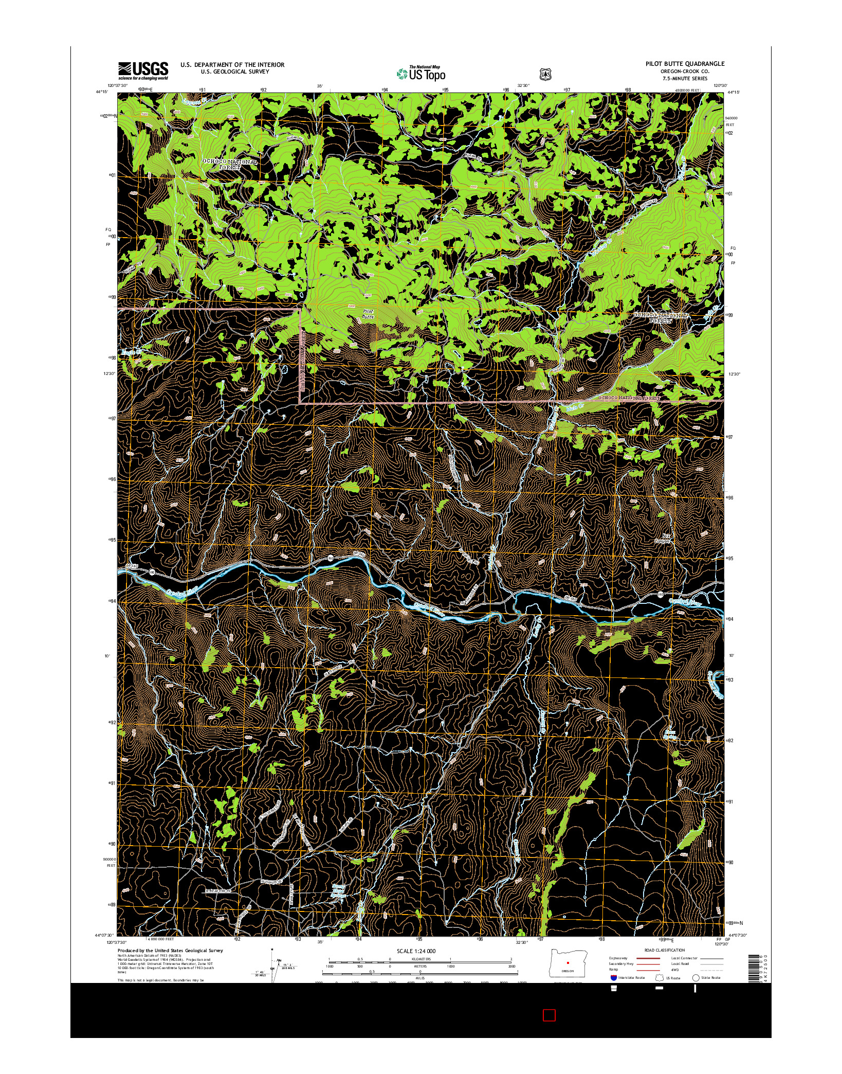 USGS US TOPO 7.5-MINUTE MAP FOR PILOT BUTTE, OR 2014
