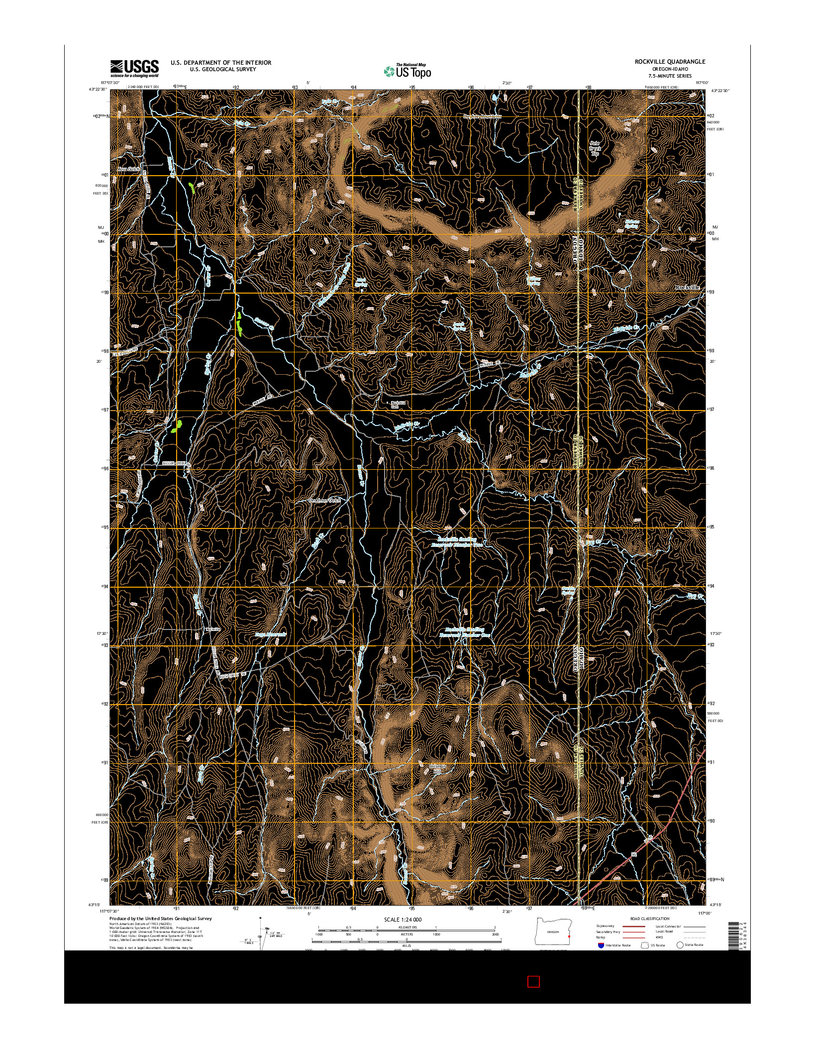 USGS US TOPO 7.5-MINUTE MAP FOR ROCKVILLE, OR-ID 2014