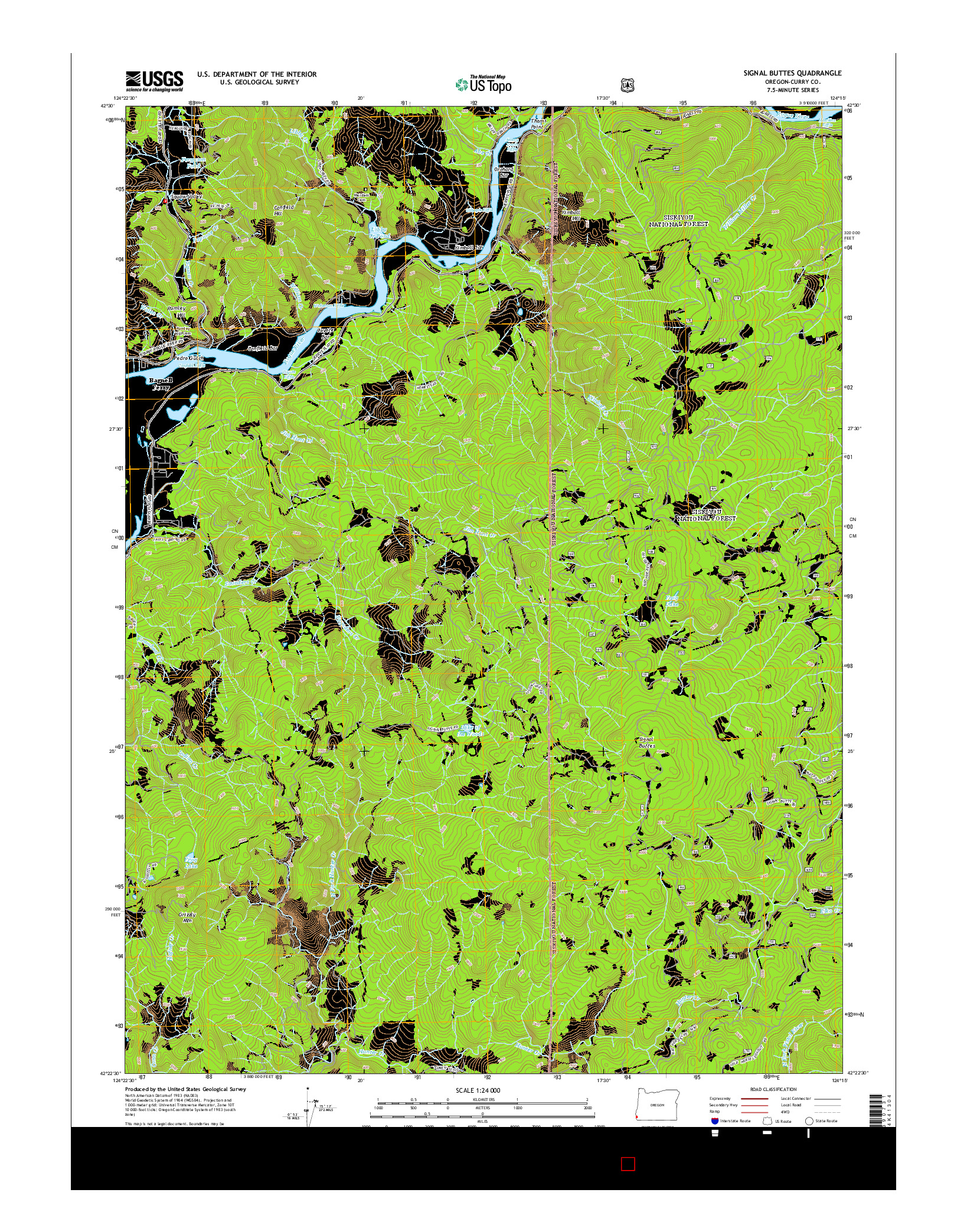 USGS US TOPO 7.5-MINUTE MAP FOR SIGNAL BUTTES, OR 2014