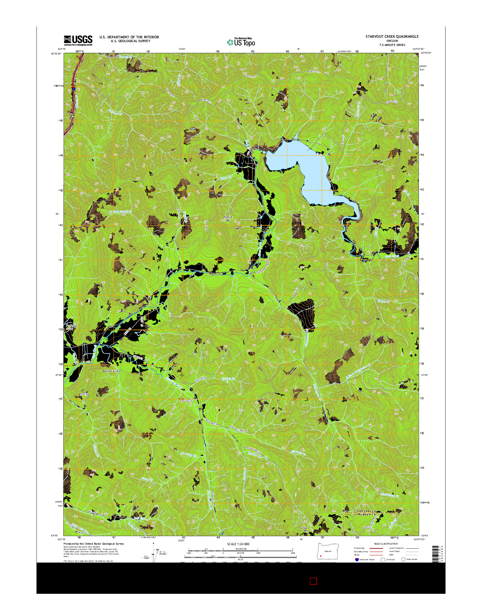 USGS US TOPO 7.5-MINUTE MAP FOR STARVOUT CREEK, OR 2014