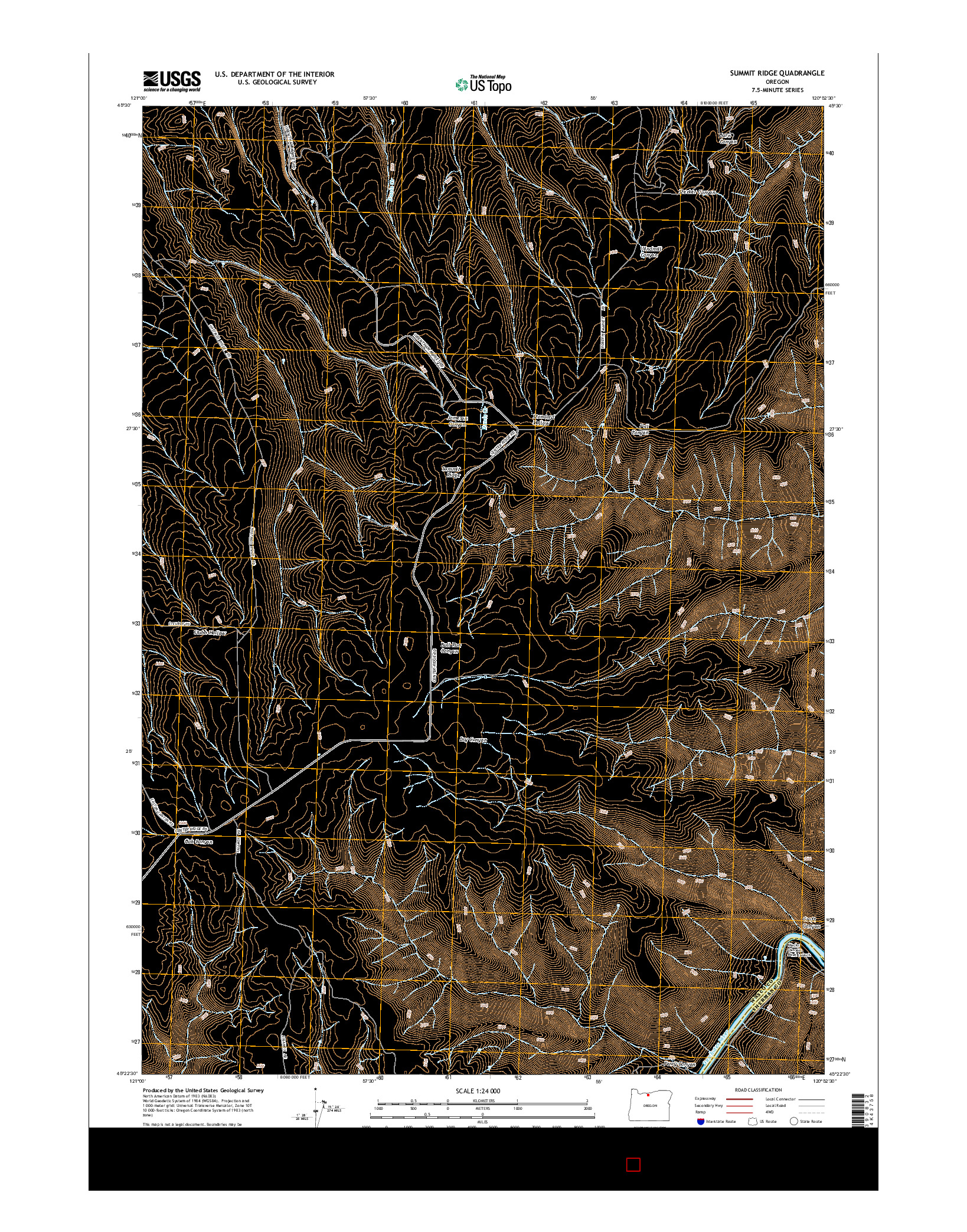 USGS US TOPO 7.5-MINUTE MAP FOR SUMMIT RIDGE, OR 2014