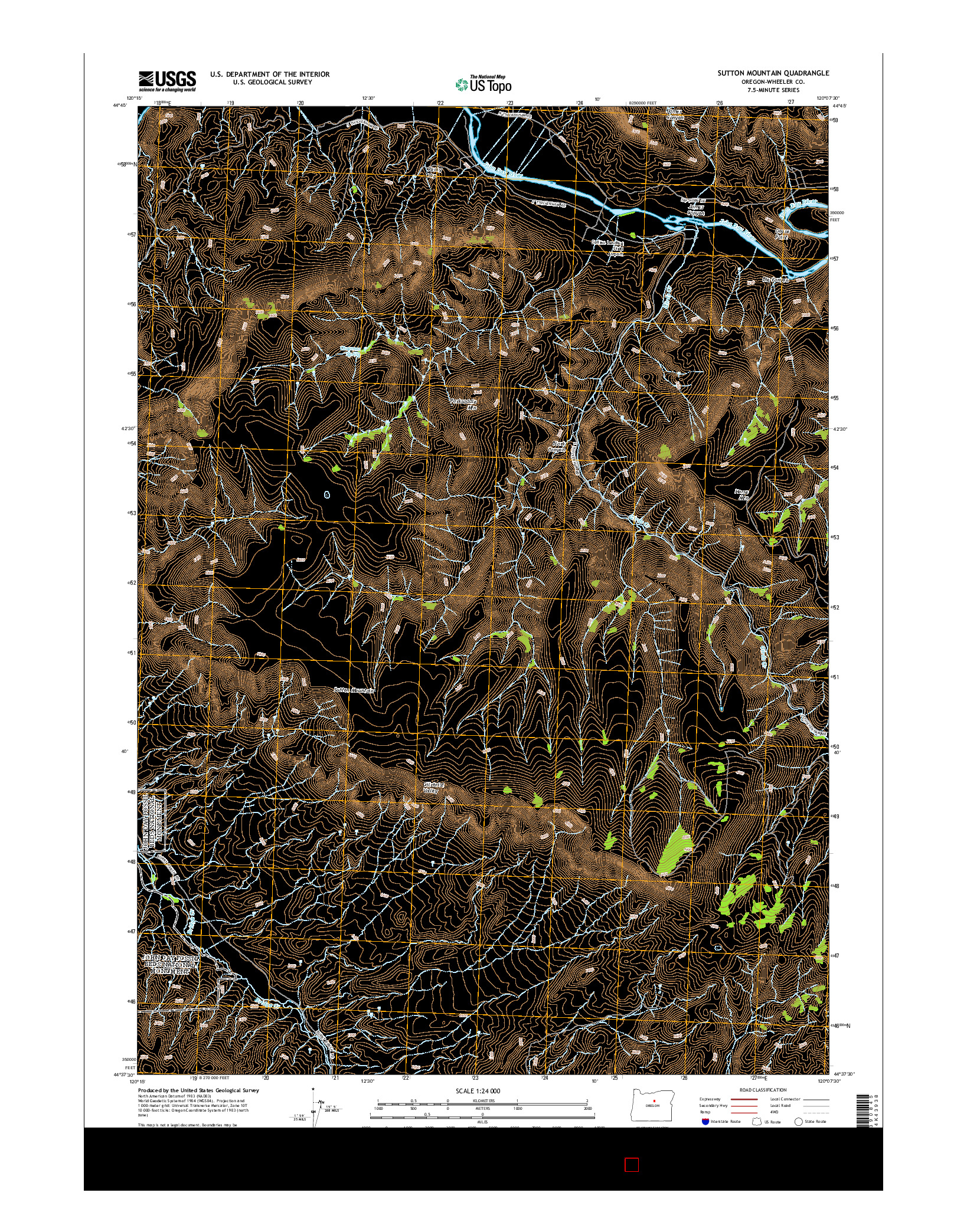USGS US TOPO 7.5-MINUTE MAP FOR SUTTON MOUNTAIN, OR 2014
