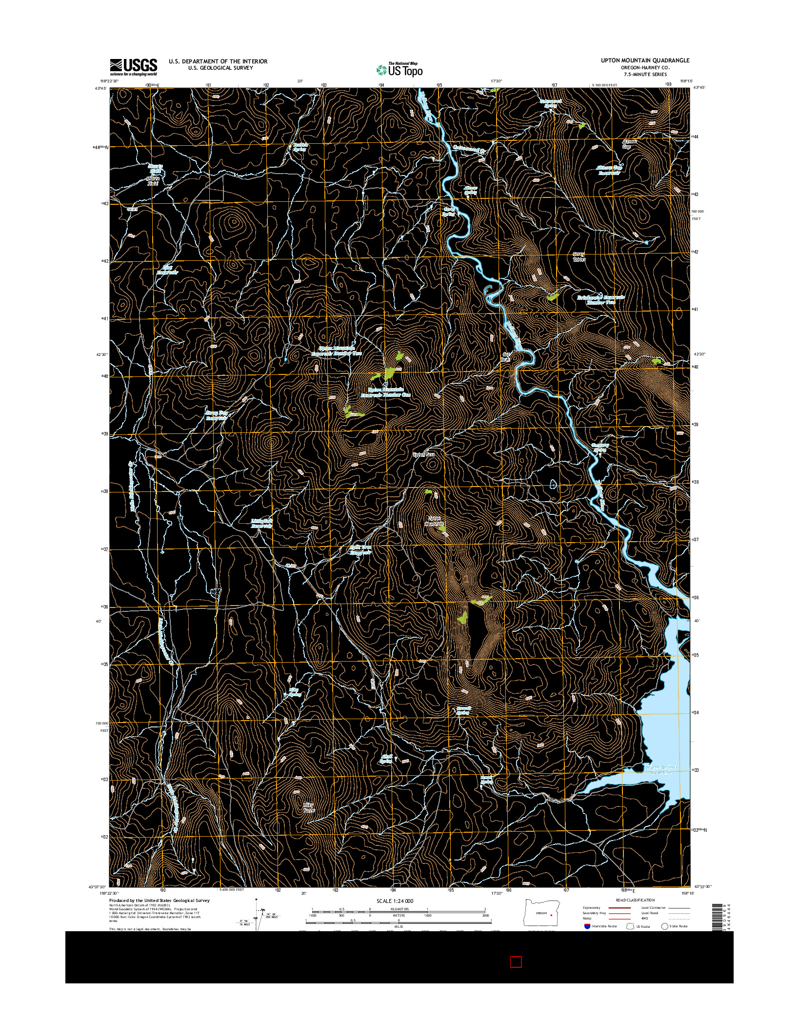 USGS US TOPO 7.5-MINUTE MAP FOR UPTON MOUNTAIN, OR 2014