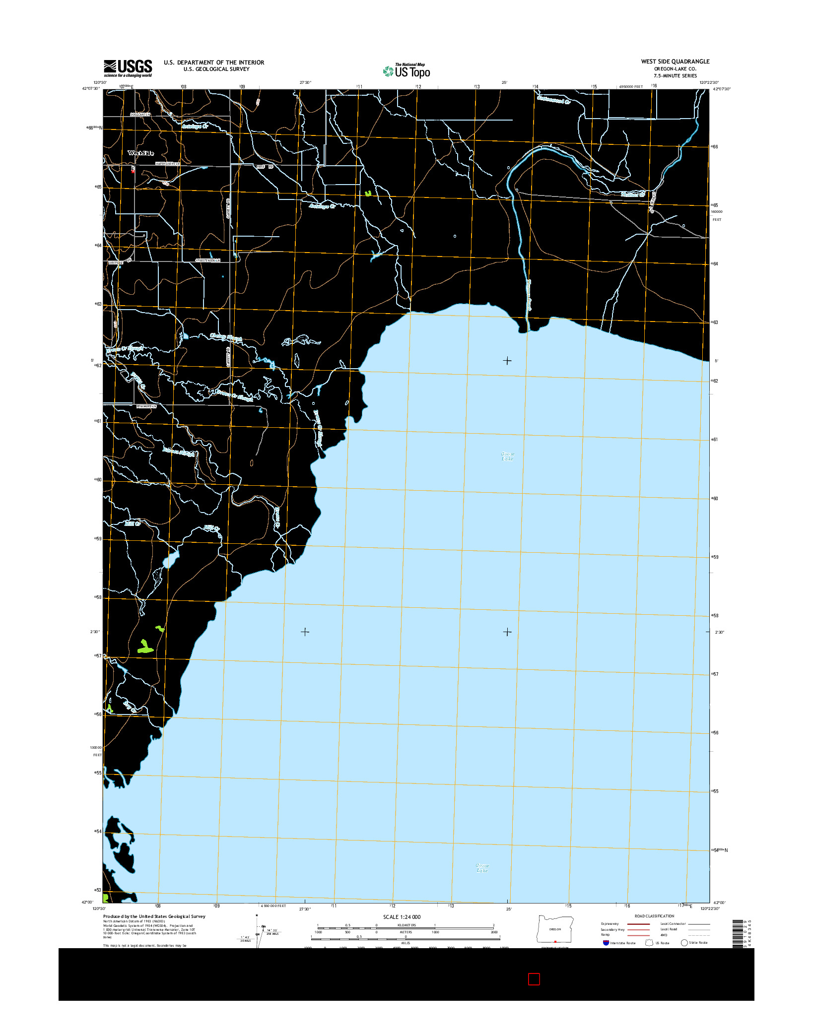 USGS US TOPO 7.5-MINUTE MAP FOR WEST SIDE, OR 2014