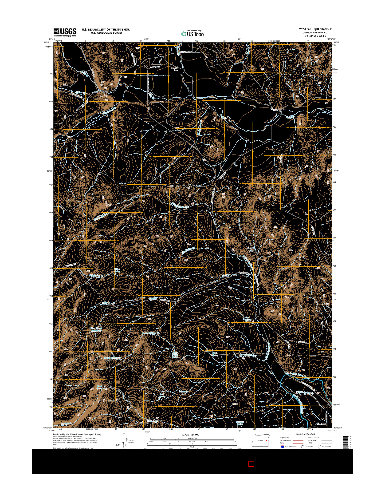USGS US TOPO 7.5-MINUTE MAP FOR WESTFALL, OR 2014