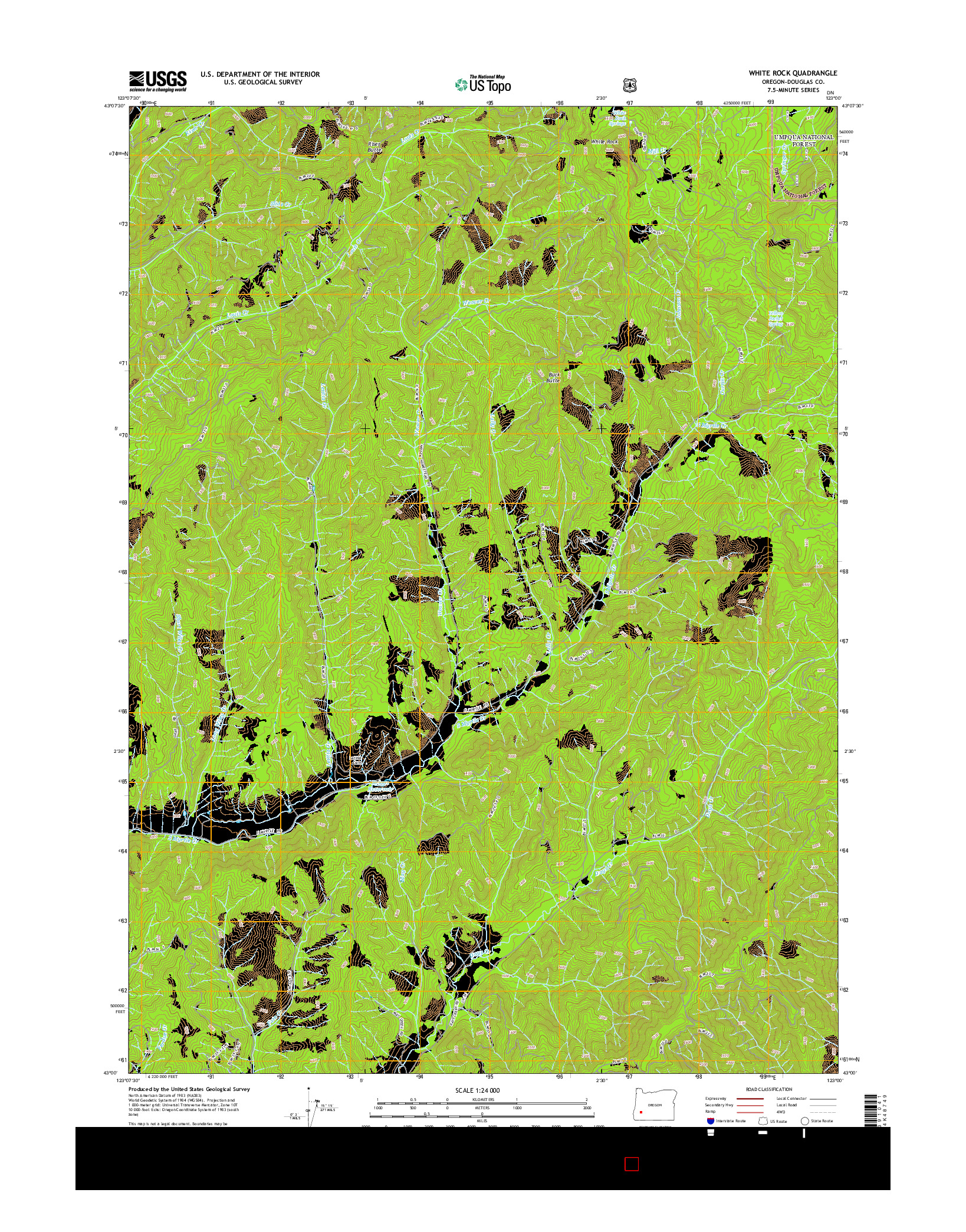 USGS US TOPO 7.5-MINUTE MAP FOR WHITE ROCK, OR 2014