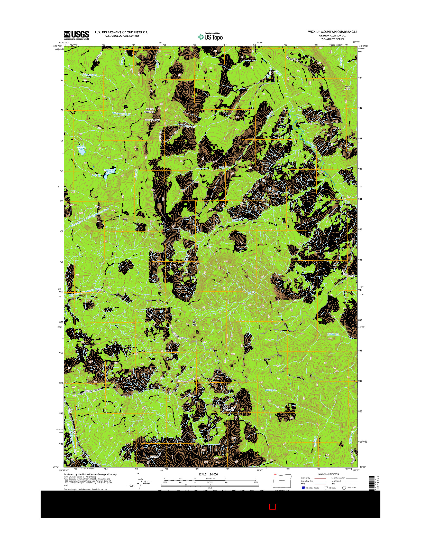 USGS US TOPO 7.5-MINUTE MAP FOR WICKIUP MOUNTAIN, OR 2014