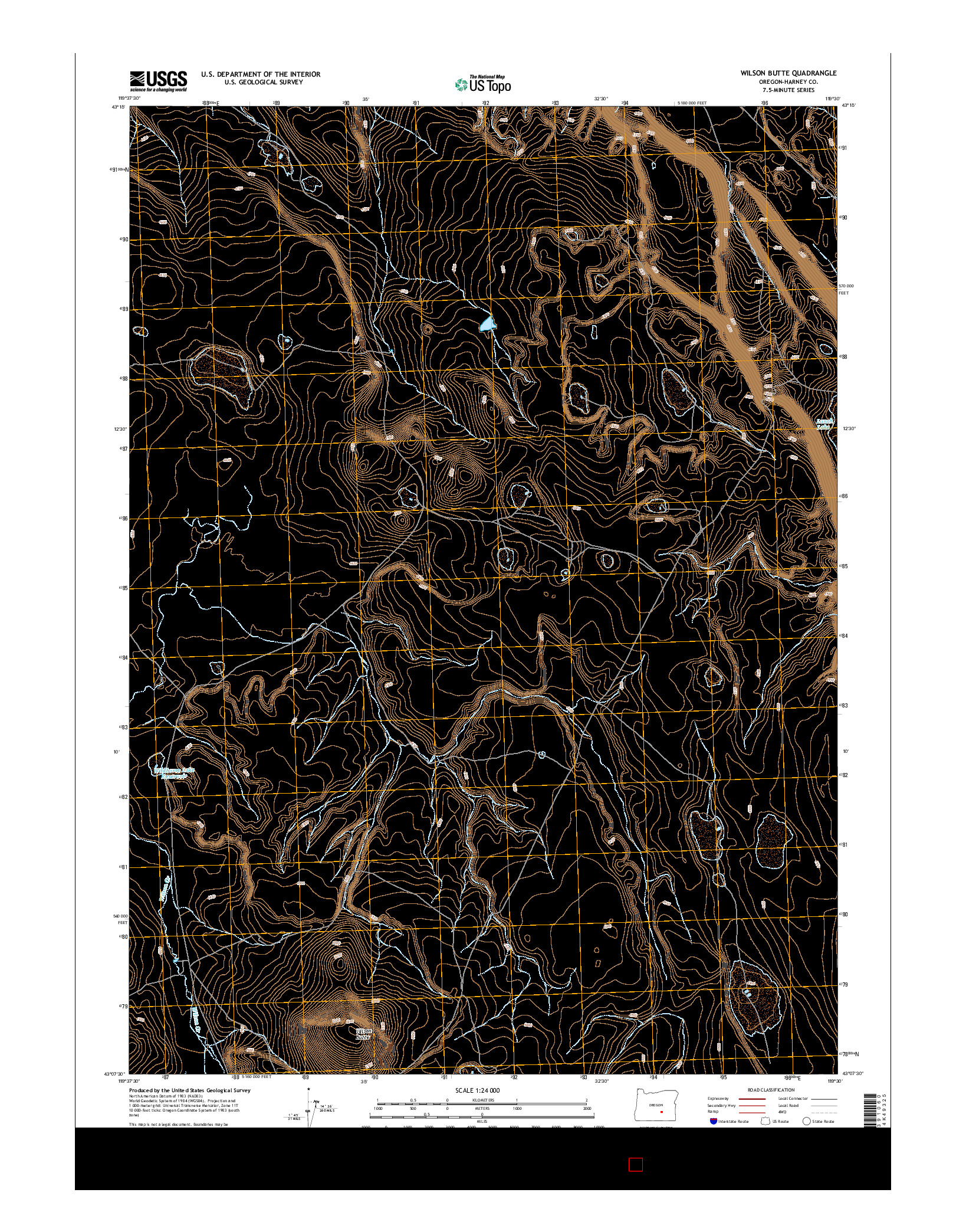 USGS US TOPO 7.5-MINUTE MAP FOR WILSON BUTTE, OR 2014