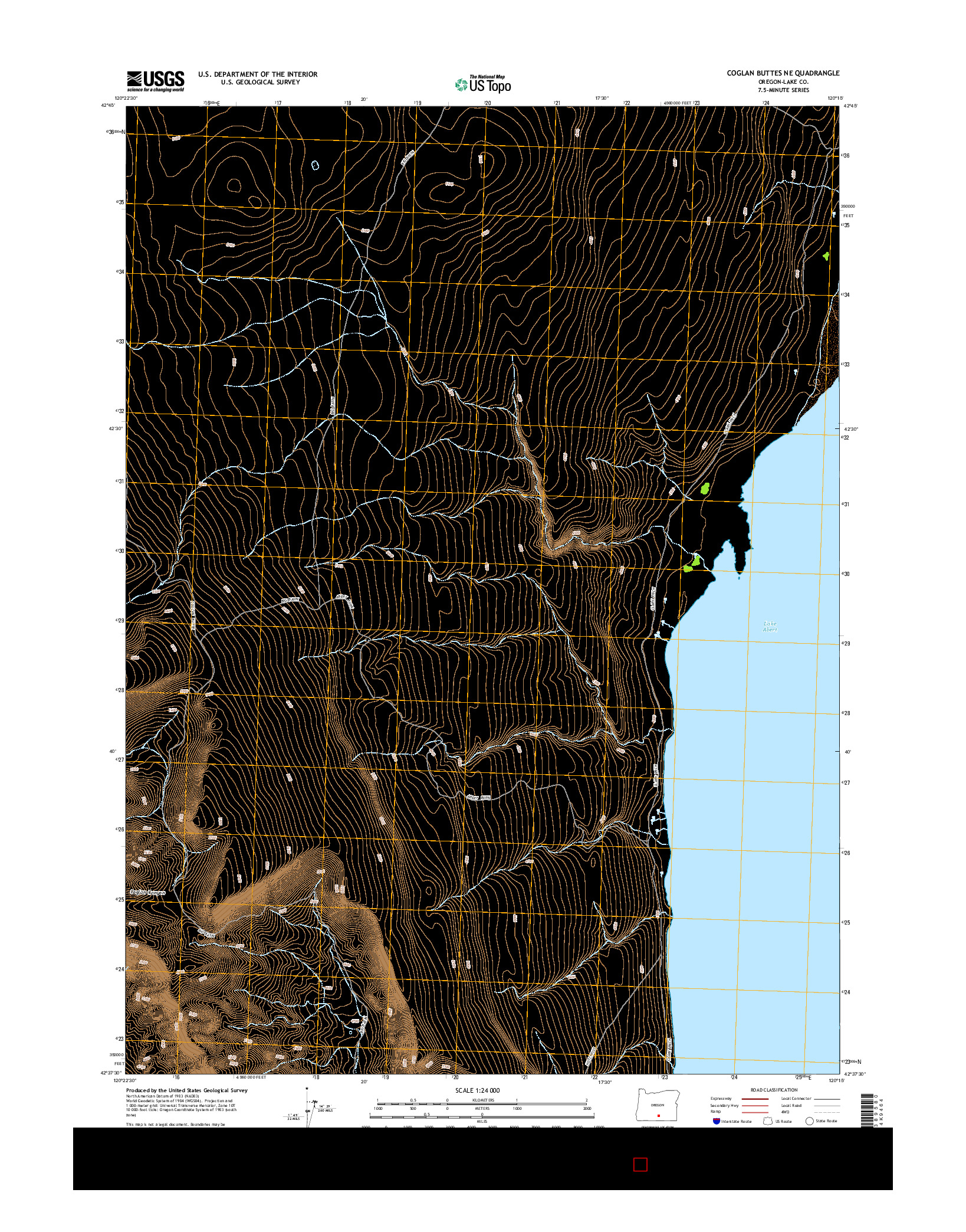 USGS US TOPO 7.5-MINUTE MAP FOR COGLAN BUTTES NE, OR 2014