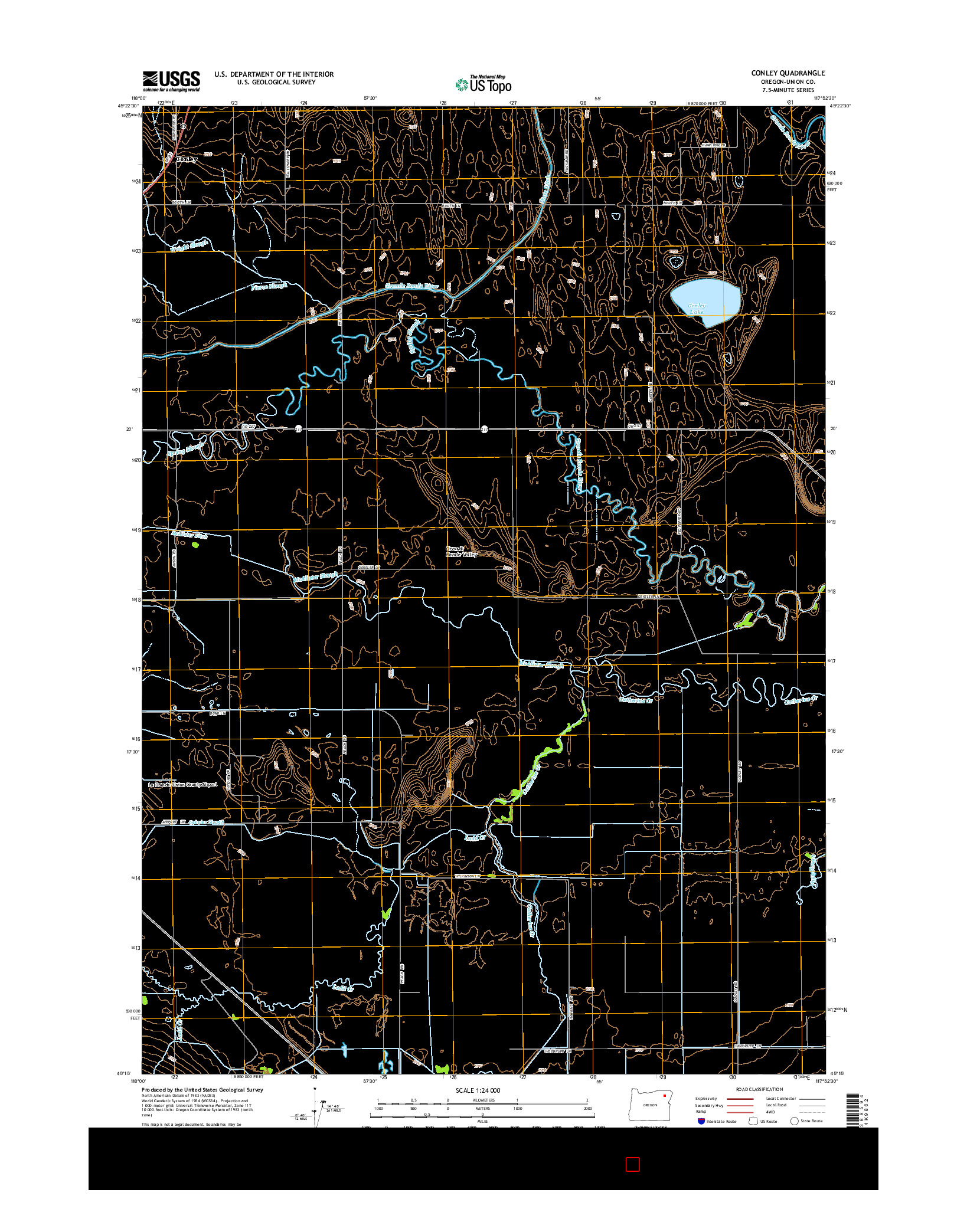 USGS US TOPO 7.5-MINUTE MAP FOR CONLEY, OR 2014