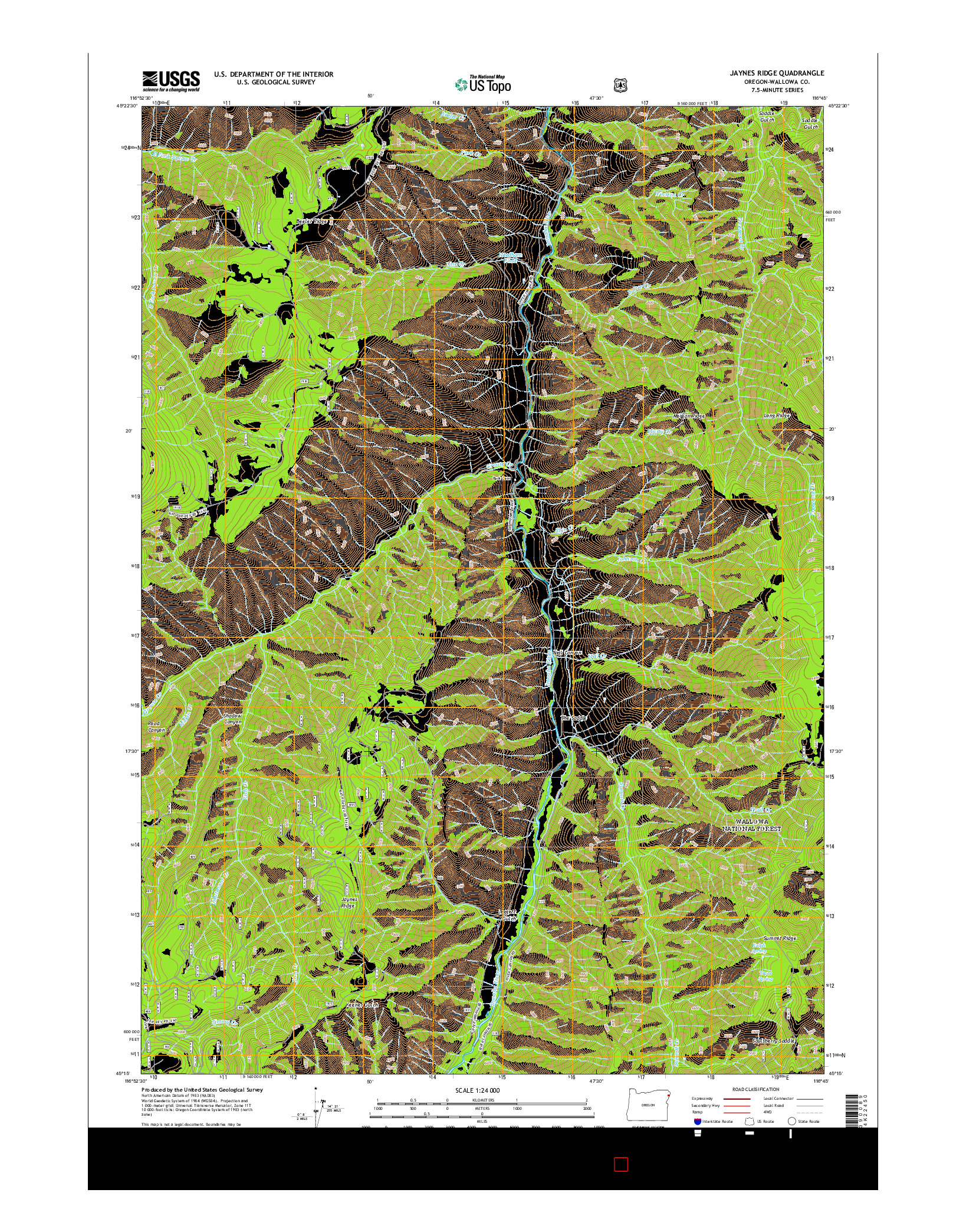 USGS US TOPO 7.5-MINUTE MAP FOR JAYNES RIDGE, OR 2014