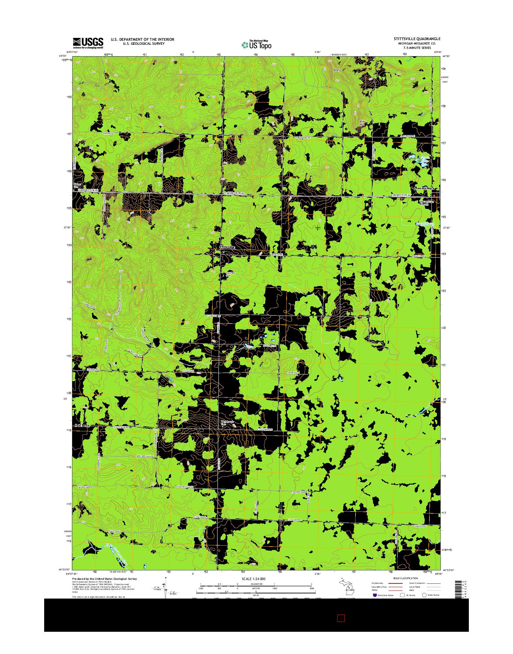 USGS US TOPO 7.5-MINUTE MAP FOR STITTSVILLE, MI 2014