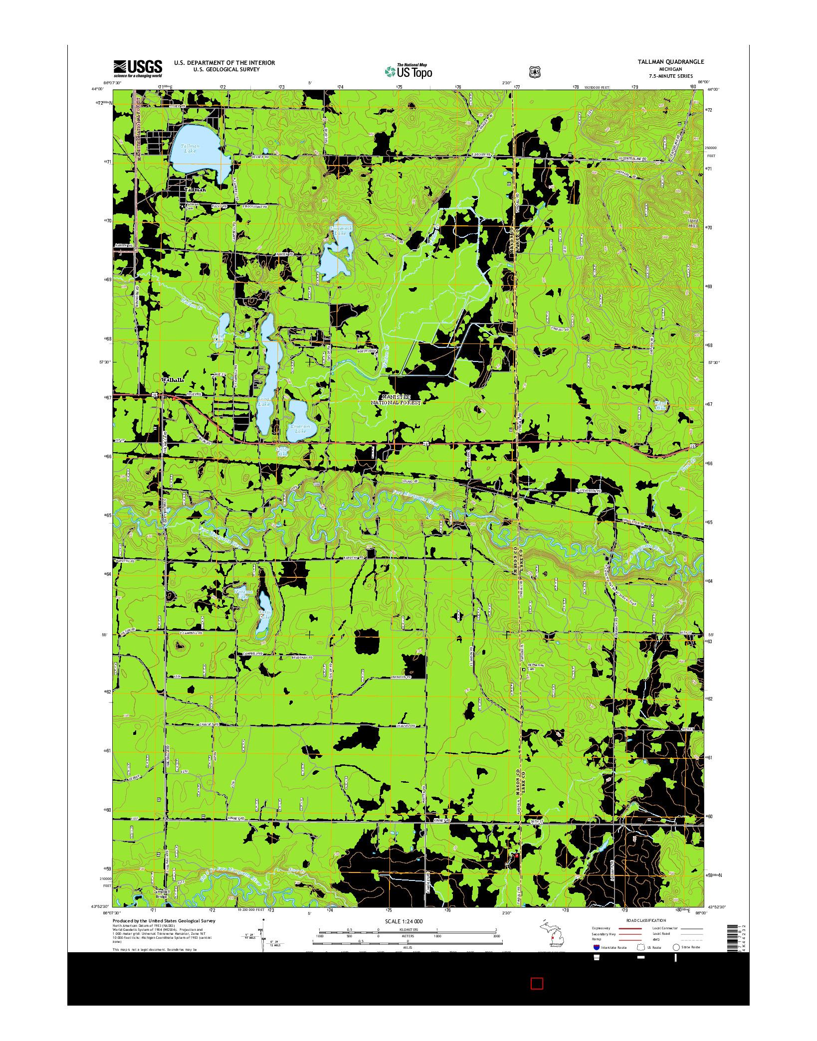 USGS US TOPO 7.5-MINUTE MAP FOR TALLMAN, MI 2014