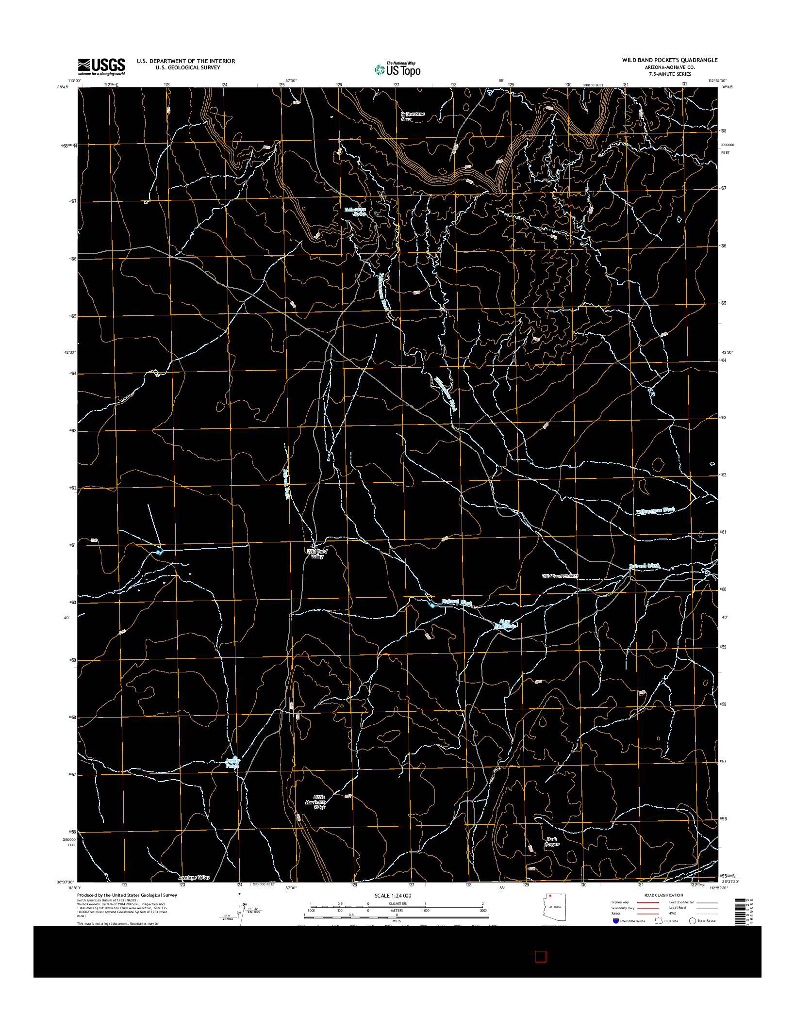 USGS US TOPO 7.5-MINUTE MAP FOR WILD BAND POCKETS, AZ 2014
